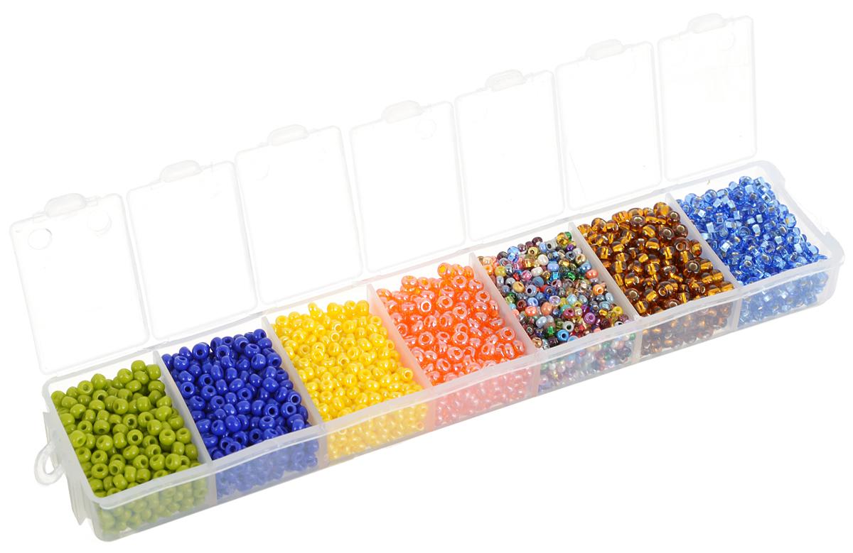 Набор бисера Preciosa Ассорти А11, 7 цветов, 90 г. 7704343_А117704343_А11Набор бисера Preciosa Ассорти А11 позволит вам своими руками создать оригинальные ожерелья, бусы или браслеты, а также заняться вышиванием. В бисероплетении часто используют бисер разных размеров и цветов. Он идеально подойдет для вышивания на предметах быта и женской одежде. Набор включает в себя бисер разных размеров и цветов: зеленого, темно-синего, желтого, оранжевого, разноцветного, золотисто-коричневого и голубого. Предметы набора упакованы в пластиковую коробочку с семью отсеками. Изготовление украшений - занимательное хобби и реализация творческих способностей рукодельницы, это возможность создания неповторимого индивидуального подарка.