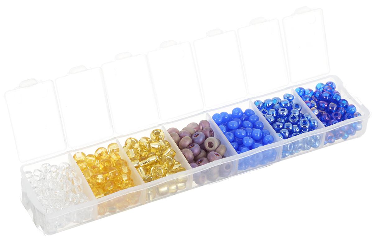 Набор бисера Preciosa Ассорти №30, 7 цветов, 90 г7704343_30Набор бисера Preciosa Ассорти №30 позволит вам своими руками создать оригинальные ожерелья, бусы или браслеты, а также заняться вышиванием. В бисероплетении часто используют бисер разных размеров и цветов. Он идеально подойдет для вышивания на предметах быта и женской одежде. Набор включает в себя бисер разных размеров и цветов: прозрачного, темно-желтого, золотистого, матово-сиреневого, темно-синего, синего и фиолетового. Предметы набора упакованы в пластиковую коробочку с семью отсеками. Изготовление украшений - занимательное хобби и реализация творческих способностей рукодельницы, это возможность создания неповторимого индивидуального подарка.