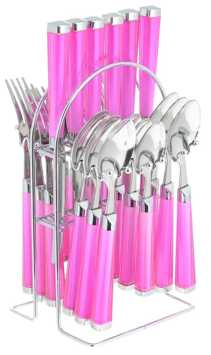 Mayer & Boch Набор столовых приборов Mayer&Boch, цвет: розовый, серебристый, 25 предметов. Mayer&Boch-22488 22488_розовый
