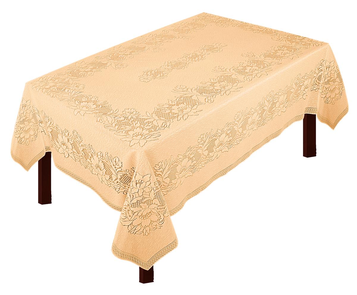 Скатерть Zlata Korunka, прямоугольная, цвет: золотистый, 235 х 165 см80005Скатерть выполнена из полиэстеровых волокон, длина235*шир.165