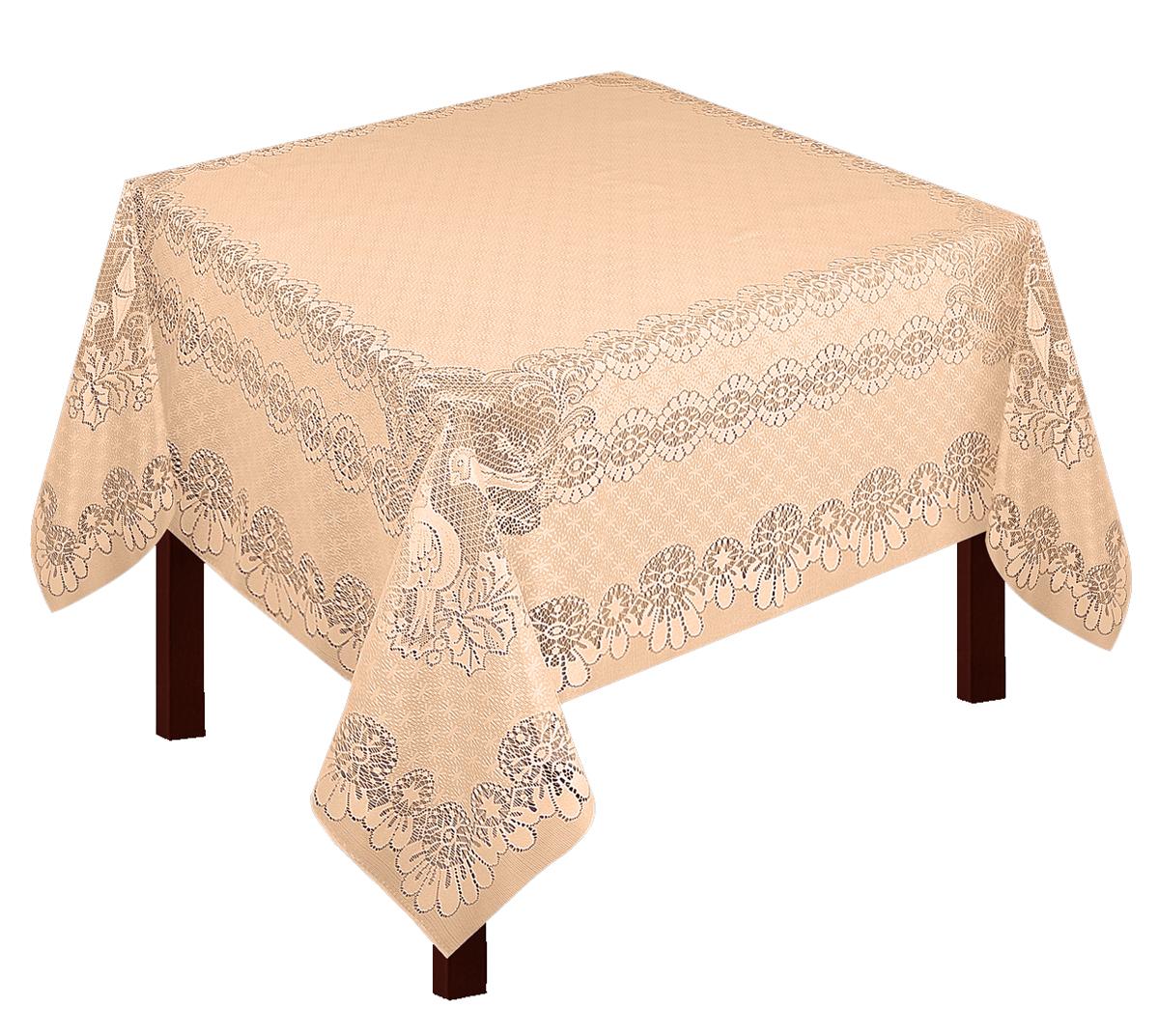 Скатерть Zlata Korunka, прямоугольная, цвет: бежевый, 165 х 150 см80030Скатерть выполнена из полиэстера жаккардового переплетения, не скользит со стола, легко стирается и прослужит Вам долгое время. Скатерть - длина 165 х шир.150