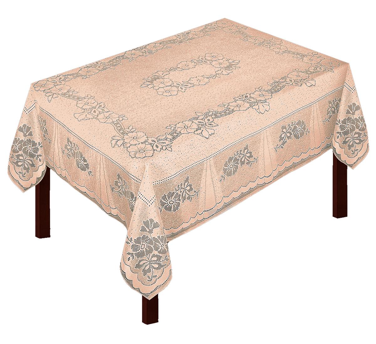 Скатерть Zlata Korunka, прямоугольная, цвет: бежевый, 175 х 150 см. 8003280032Великолепная скатерть Zlata Korunka, выполненная из полиэстера жаккардового переплетения, органично впишется в интерьер любого помещения, а оригинальный дизайн удовлетворит даже самый изысканный вкус. Изделие не скользит со стола, легко стирается и прослужит вам долгое время. Скатерть создаст праздничное настроение и станет прекрасным дополнением интерьера гостиной, кухни или столовой.