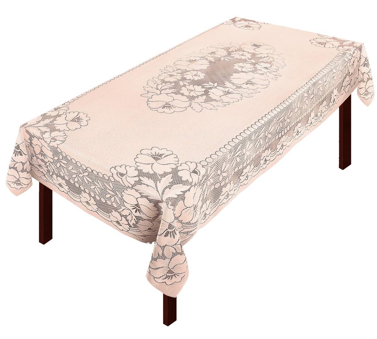Скатерть Zlata Korunka, прямоугольная, цвет: бежевый, 250 х 150 см80037Скатерть выполнена из полиэстера жаккардового переплетения, не скользит со стола, легко стирается и прослужит Вам долгое время.