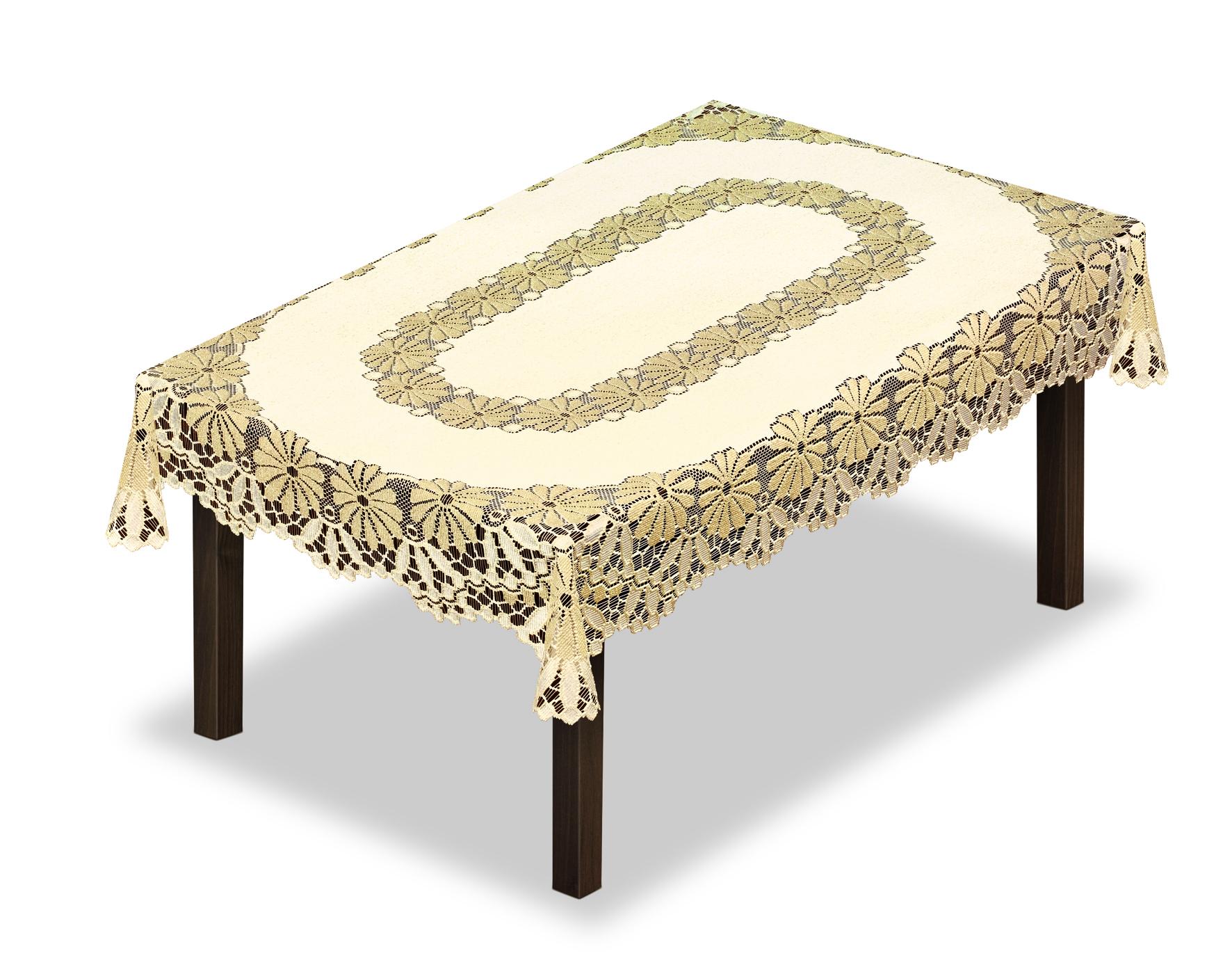 Скатерть Haft, прямоугольная, цвет: кремовый, золотистый, 100 х 150 см228709/100Оригинальная ,ажурная скатерть из ткани жаккардового переплетения шир.100см* длина 150 см.Скатерть прекрасна в уходе,не требует глажки и быстро сохнет