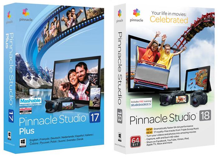 Pinnacle Studio 17 Plus + Pinnacle Studio 18