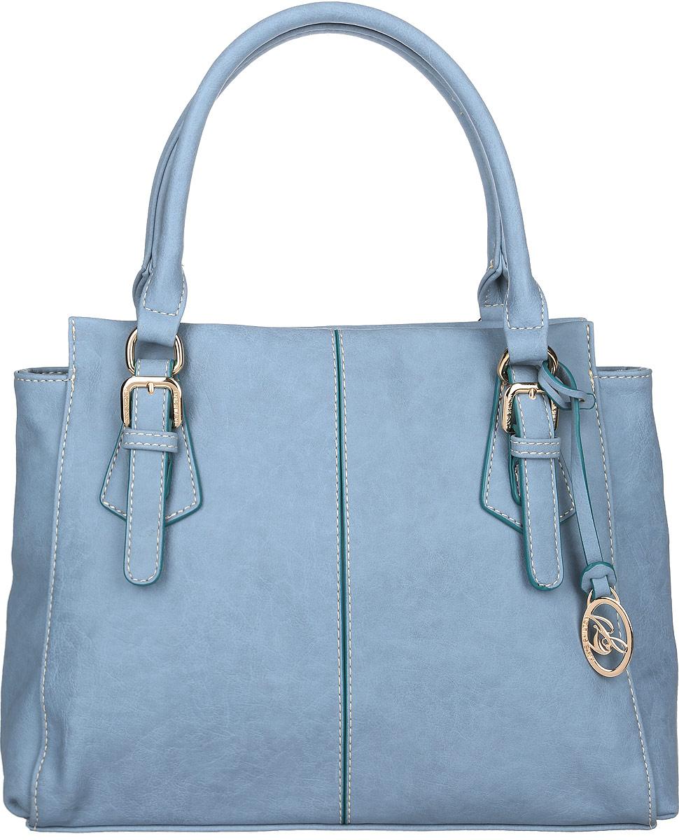 Сумка женская Jane Shilton, цвет: серо-голубой. 20642064blueСтильная женская сумка Jane Shilton выполнена из искусственной кожи и дополнена фирменным брелоком. Изделие имеет одно основное отделение, разделенное пополам карманом-средником на застежке-молнии. Закрывается сумка на застежку-молнию. Внутри находятся прорезной карман на застежке-молнии и накладной открытый карман. Снаружи, на задней стенке расположен прорезной карман на застежке-молнии. Модель оснащена двумя удобными ручками. Роскошная сумка внесет элегантные нотки в ваш образ и подчеркнет ваше отменное чувство стиля.