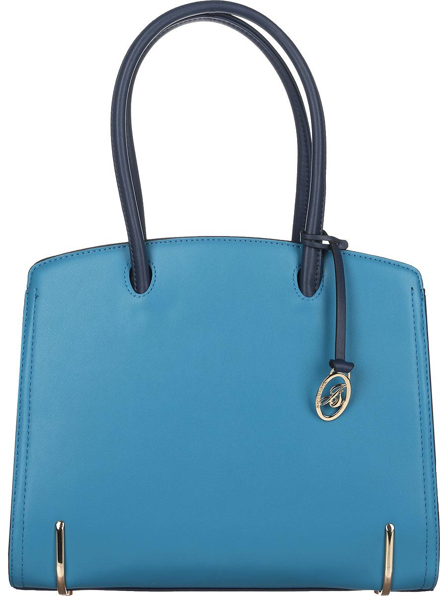 Сумка женская Jane Shilton, цвет: темно-синий, голубой. 20712071blueСтильная женская сумка Jane Shilton выполнена из искусственной кожи и дополнена фирменным брелоком. Изделие имеет одно основное отделение, разделенное пополам карманом-средником на застежке-молнии. Закрывается сумка на застежку-молнию. Внутри находятся прорезной карман на застежке-молнии и накладной открытый карман. Снаружи, на задней стенке расположен прорезной карман на застежке-молнии. Модель оснащена двумя удобными ручками. Основание изделия защищено от повреждений металлическими ножками. Роскошная сумка внесет элегантные нотки в ваш образ и подчеркнет ваше отменное чувство стиля.