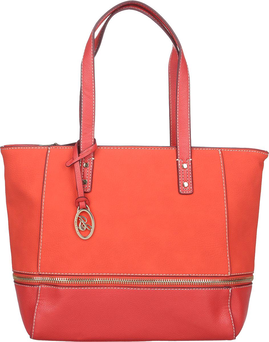 Сумка женская Jane Shilton, цвет: морковный, красный. 20772077coralСтильная женская сумка Jane Shilton, выполненная из искусственной кожи, оформлена декоративной молнией и дополнена фирменным брелоком. Изделие имеет одно основное отделение, разделенное пополам карманом-средником на застежке-молнии. Закрывается сумка на застежку-молнию. Внутри находятся прорезной карман на застежке-молнии и накладной открытый карман. Снаружи, на задней стенке расположен прорезной карман на застежке-молнии. Модель оснащена двумя удобными ручками. Роскошная сумка внесет элегантные нотки в ваш образ и подчеркнет ваше отменное чувство стиля.