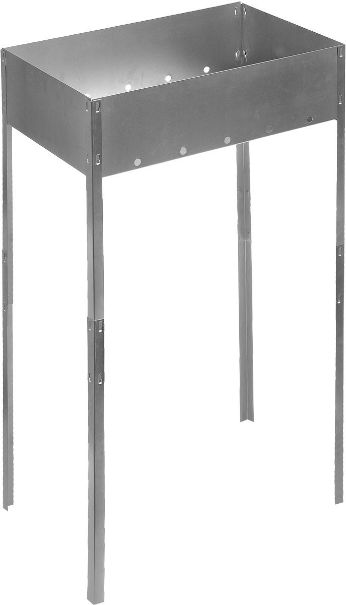 Мангал складной RoyalGrill, на длинных ножках, 50 х 30 х 85 см80-050Складной мангал RoyalGrill изготовлен из нержавеющей стали, не подвержен деформации, легкий, но в то же время прочный. Мангал складной, занимает минимум места, при этом позволяет затрачивать меньше угля при жарке пищи. Изделие легко устанавливается и хорошо поддерживает жар. Это небольшое приспособление для приготовления шашлыка и барбекю пригодится в любой семье. Такой мангал станет незаменимым атрибутом отдыха на природе. Размер мангала: 50 х 30 х 85 см.