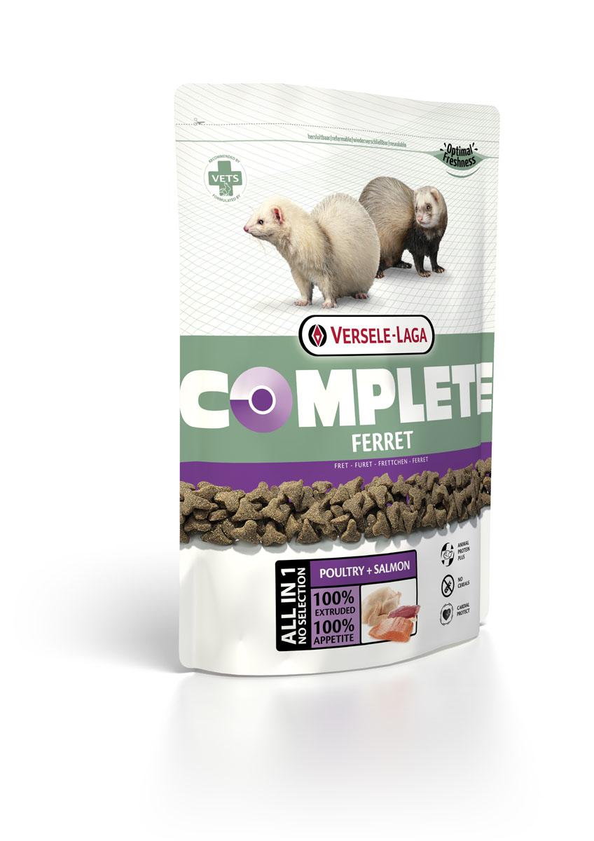 Корм для хорьков Versele-Laga Complete Ferret, 750 г461316VERSELE-LAGA Ferret Complete комплексный корм для хорьков 750 г Полноценный и вкусный корм для хорьков, состоящий на 100% из легкоусваиваемых экструдированных гранул. Обеспечивает организм зверьков питательными веществами, микроэлементами и витаминами, благодаря чему повышает иммунитет хорька. Из-за своей структуры корм является отличным средством для профилактики заболеваний зубов и десен. Состав: Курица (более 30%), рыба, ФОС, МОС, витамимны, натуральные растительные пигменты (лютеин, бетта-каротин), Омега-3, Омега-6, волокна клетчатки, экстракт Юкки. Аналитический состав: Сырой протеин 36%, Сырой жир 19%, Сырая клетчатка 3%, Сырая зола 6,5%, Кальций 1%, Фосфор 0,9%, Магний 0,09%, Витамин 25,000 МЕ / кг, Витамин D3 2,000 МЕ / кг, Витамин Е 150 мг / кг, Витамин C 50 мг / кг, Медно-меди (II) sulfat 20 мг / кг, Таурин 2,000 мг / кг, ?-каротин 10 мг / кг.