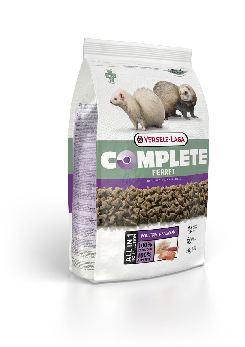 Корм для хорьков Versele-Laga Complete Ferret, 2,5 кг461317VERSELE-LAGA Ferret Complete комплексный корм для хорьков 2,5 кг Полноценный и вкусный корм для хорьков, состоящий на 100% из легкоусваиваемых экструдированных гранул. Обеспечивает организм зверьков питательными веществами, микроэлементами и витаминами, благодаря чему повышает иммунитет хорька. Из-за своей структуры корм является отличным средством для профилактики заболеваний зубов и десен. Состав: курица (более 30%), рыба, ФОС, МОС, витамины, натуральные растительные пигменты (лютеин, бетта-каротин), Омега-3, Омега-6, волокна клетчатки, экстракт Юкки. Аналитический состав: Сырой протеин 36%, Сырой жир 19%, Сырая клетчатка 3%, Сырая зола 6,5%, Кальций 1%, Фосфор 0,9%, Магний 0,09%, Витамин 25,000 МЕ / кг, Виттамин D3 2,000 МЕ / кг, Витамин Е 150 мг / кг, Витамин C 50 мг / кг, Медно-меди (II) sulfat 20 мг / кг, Таурин 2,000 мг / кг, ?-каротин 10 мг / кг.