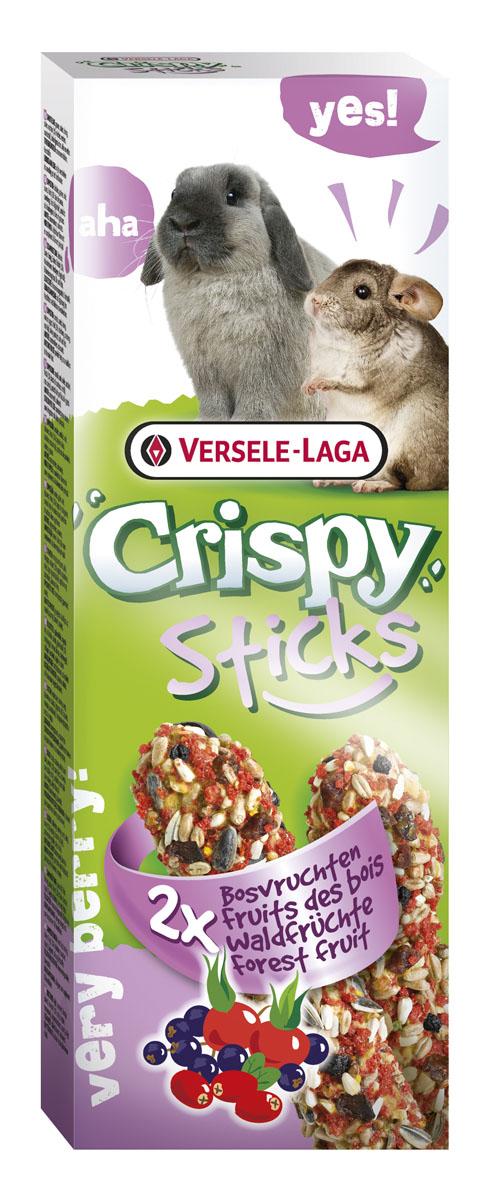 Палочки для кроликов и шиншилл Versele-Laga Crispy, с лесными ягодами, 2 х 55 г462062VERSELE-LAGA палочки для кроликов и шиншилл с лесными ягодами 2х55 г. Палочки VERSELE-LAGA для кроликов и шиншилл с лесными ягодами – великолепное угощение для зверьков. Эти палочки настоящий праздник вкуса для грызунов. В состав входят злаки, плоды шиповника и дикие ягоды. Все компоненты тщательно отбираются и имеют самое высокое качество. В упаковке 2 палочки. Вес 1 палочки: 55 г. Состав: Злаковые, семена, мед, различные сахара, ягоды (ягоды бузины, клюква, плоды шиповника), пекарские продукты, масла и жиры