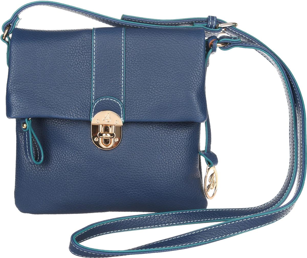 Сумка кросс-боди женская Jane Shilton, цвет: синий. 20452045navyСтильная сумка кросс-боди Jane Shilton выполнена из искусственной кожи с зернистой фактурой, оформлена декоративной подвеской и металлической фурнитурой с гравировкой в виде символики бренда. Изделие содержит одно отделение, закрывающееся на застежку-молнию и дополнительно клапаном на замок-вертушку. Внутри сумки размещены накладной кармашек для телефона и врезной карман на застежке-молнии. Снаружи, под клапаном, расположен накладной карман. Сумка оснащена практичным плечевым ремнем регулируемой длины. Модная сумка идеально подчеркнет ваш неповторимый стиль.