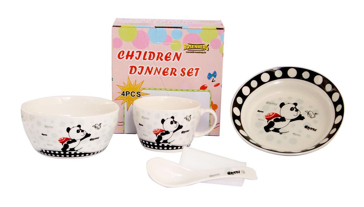 Rosenberg Набор детской посуды 879603807000157глубокая тарелка , бульонная чаша 470мл, кружка 250мл, ложка 14см