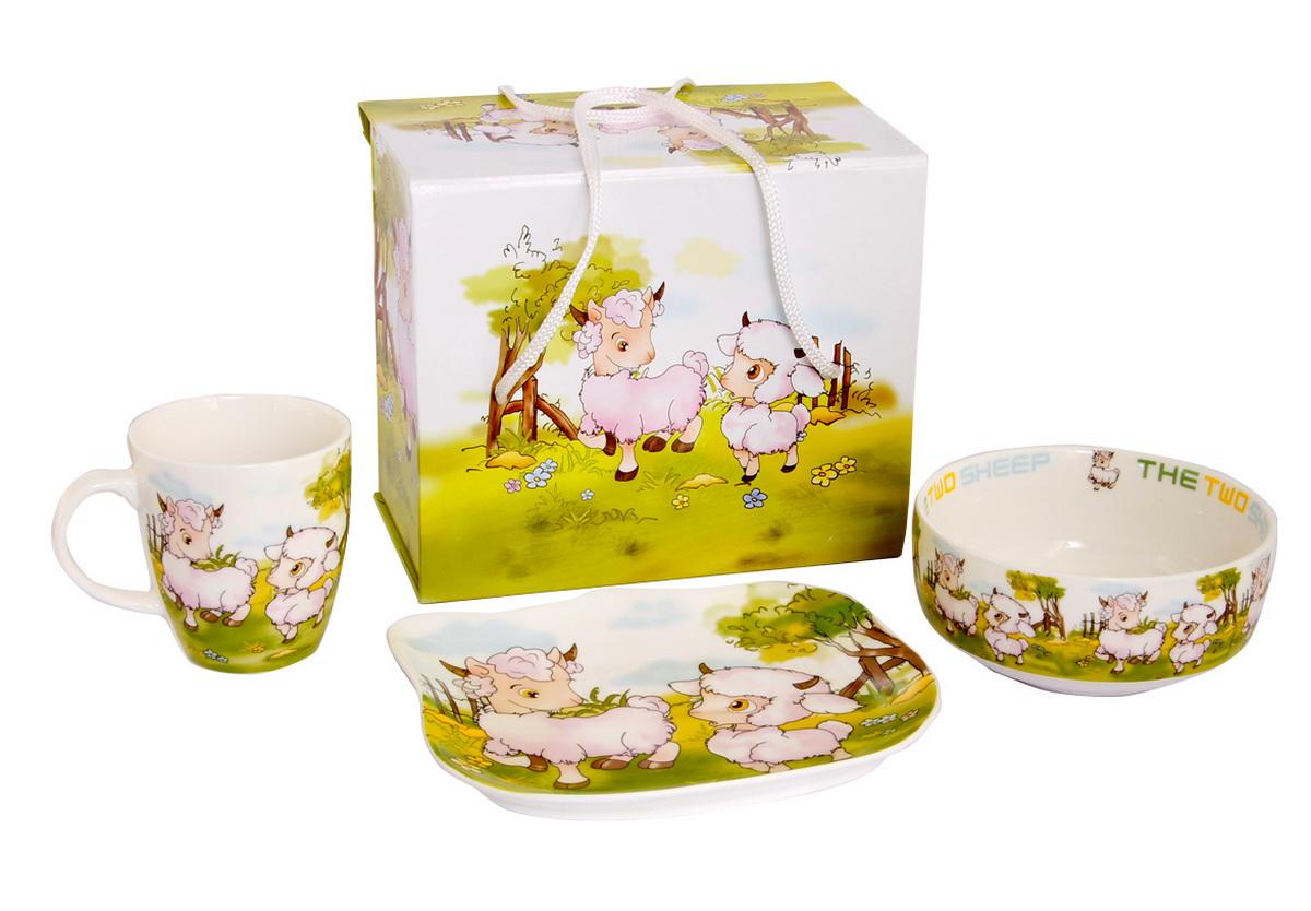 Rosenberg Набор детской посуды 87833807000154плоская тарелка 17.5 х 15 см, глубокая тарелка 12.5 х 12.5 см,300ml кружка 175ml