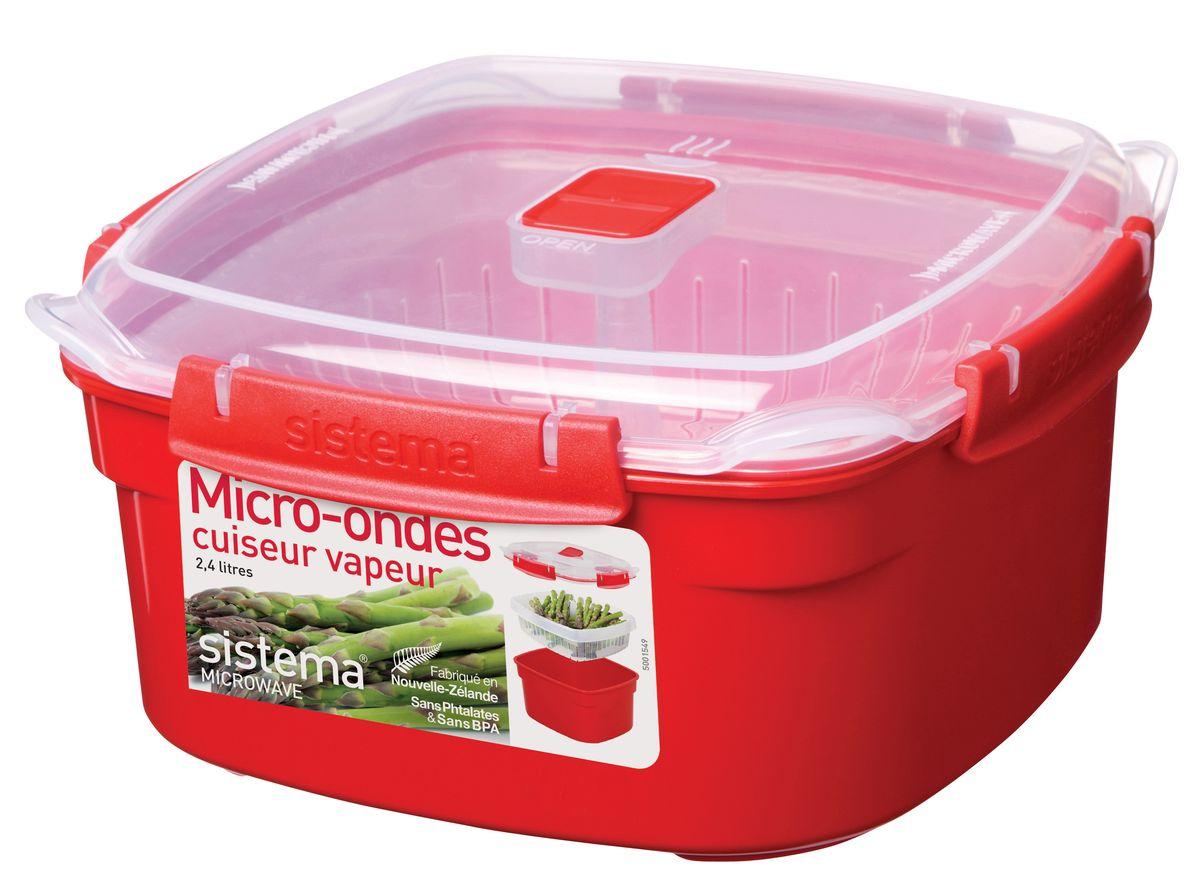 Контейнер Sistema Microwave, 3,2 л1103В контейнере Sistema Microwave Вы с легкостью сможете не только разогреть пищу в СВЧ, но и приготовить ее. Просто налейте воды в базовый контейнер, поместите пищу в пластиковый дуршлаг, откройте на крышке клапан пароотвода и поместите все в микроволновую печь. Через несколько минут Вы можете насладиться полезной пищей. Контейнер надежно закрывается клипсами, которые при необходимости можно заменить. Крышка с силиконовой прокладкой герметично закрывается что помогает дольше сохранить полезные свойства продуктов. Можно мыть в посудомоечной машине.