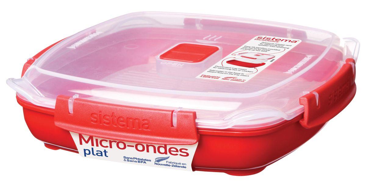 Контейнер низкий Sistema Microwave, 880 мл1105В контейнере Sistema Microwave вы с легкостью сможете не только разогреть пищу в СВЧ, но и приготовить ее. Просто налейте воды в базовый контейнер, поместите пищу в пластиковый дуршлаг, откройте на крышке клапан пароотвода и поместите все в микроволновую печь. Через несколько минут вы можете насладиться полезной пищей. Контейнер оснащен фиксирующимися зажимами - клипсами, которые при необходимости можно будет заменить. На крышке имеется прорезиненный обод, который способствует более герметичному закрыванию, в связи с чем продукты дольше сохраняют свои свойства. Можно мыть в посудомоечной машине.