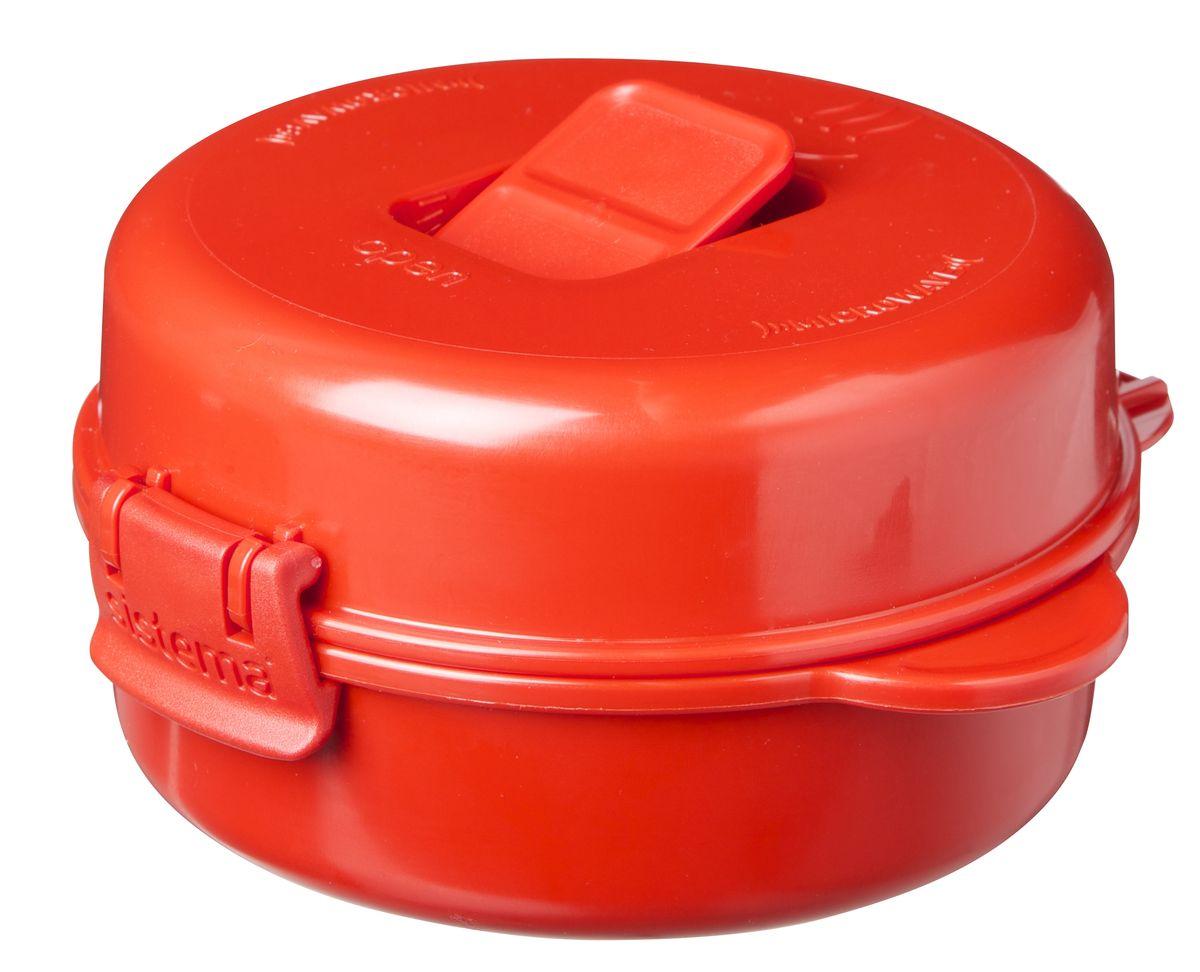 Омлетница-яйцеварка Sistema Microwave, 271 мл1117Используя высококачественный контейнер омлетницу-яйцеварку Sistema Microwave, с легкостью можно приготовить омлет с ломтиками бекона, яичницу с картофельными шариками, яйцо-пашот, и многое другое. Разместив продукты в контейнер, закройте герметичную крышку, откройте клапан и поместите все в СВЧ. Через несколько минут Вы сможете насладиться вкусным блюдом. Время приготовления может варьироваться в зависимости от мощности СВЧ. Можно мыть в посудомоечной машине.