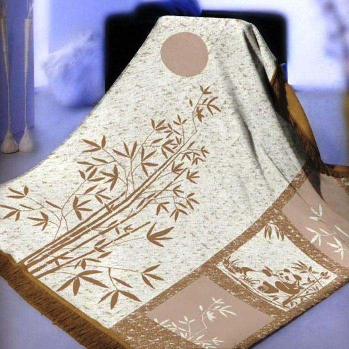 Плед Arya Бамбук. Raul, 150 х 200 смF9289952Плед Arya серии «Бамбук» выполнен из ткани, состоящей из бамбукового волокна. Исследование свойств бамбука позволило создать революционный дышащий материал. Такая ткань является: 1) Мягкой - бамбуковое волокно с натуральным блеском мягче хлопка и по качеству напоминает шелк. 2) Защитной - ткань из бамбука не вызывает раздражения и обладает натуральными антимикробными свойствами, она содержит компонент «bamboo kun», предотвращающий размножение бактерий. По данным проведенным тестов известно, что более 70% бактерий, помещенных на бамбуковое волокно уничтожаются естественным образом. 3) Прочной - бамбуковое волокно, из которого получают нити и ткань очень прочное. Компания Arya- производитель пледа, является признанным турецким лидером на рынке постельных принадлежностей и текстиля для дома. Поэтому вы можете быть уверены, что приобретенные текстильные изделия доставит вам и вашим близким удовольствие.