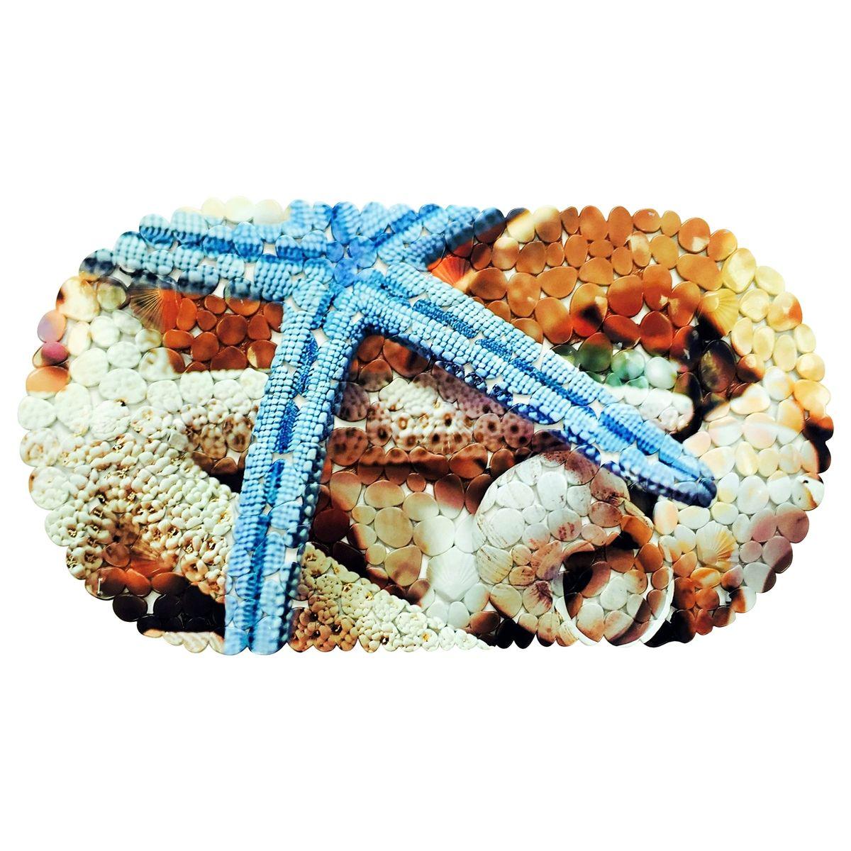 Коврик для ванной Tatkraft SPA Морская звезда, противоскользящий, 69 x 39 см18846Коврики для ванной комнаты, обладают противоскользящим эффектом, гигиеничные, мягкие, водостойкие