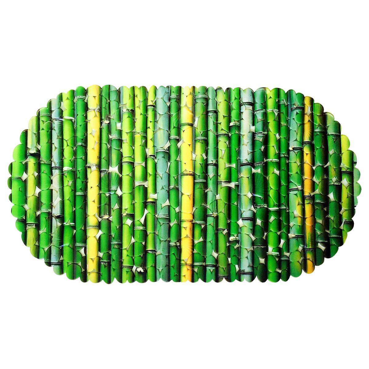 Коврик для ванной Tatkraft SPA Бамбук, противоскользящий, 69 x 39 см18891Противоскользящий коврик Tatkraft SPA Фотопринт обеспечит комфортное и безопасное купание и подойдёт как для малыша, так и для взрослого. • Нанесенная на них с помощью термопечати специальная фотопленка позволяет сделать рисунок у этих ковриков очень четким и объемным. • Присоски надежно прикрепляют коврик ко дну ванны, душевой или к полу в ванной комнате и не дают ему скользить. • Специальное рельефное покрытие препятствует скольжению ног по коврику.