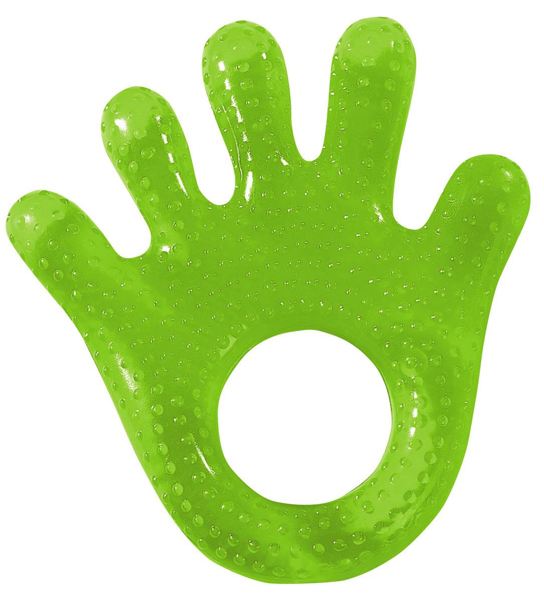 Simba Прорезыватель Рука цвет салатовый4013794_салатовыйПрорезыватель Simba Рука обязательно понравится каждому малышу! Кольцо, заполненное водой, прекрасно подходит детям с режущимися зубками благодаря приятному охлаждающему эффекту. Предназначено для малышей с трехмесячного возраста. Не кипятить, не стерилизовать. Хранить только в холодильнике, но не в морозилке.