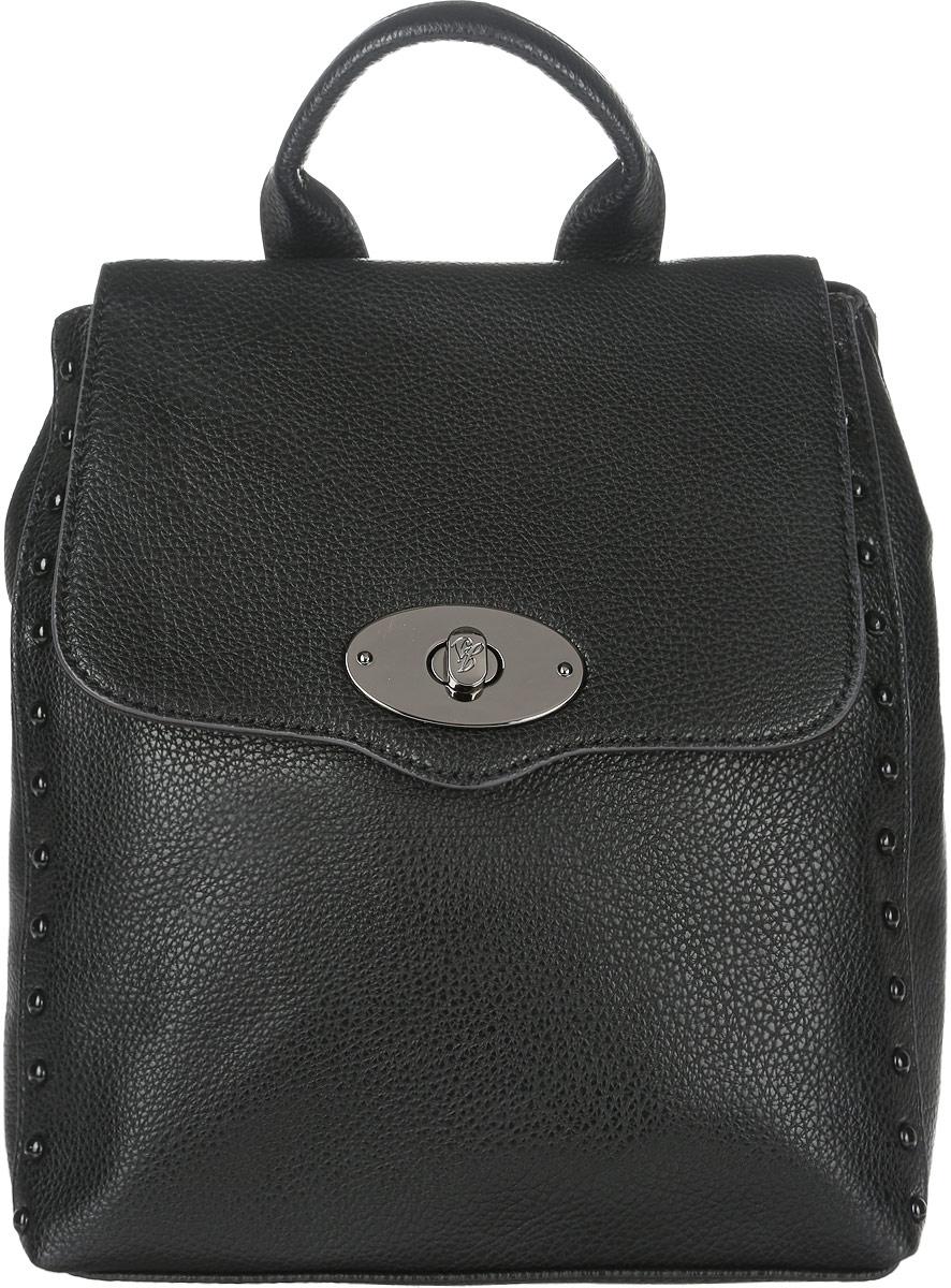 Сумка-рюкзак женская Jane Shilton, цвет: черный. 2074