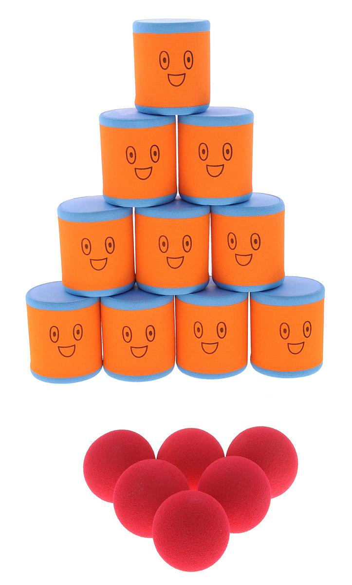 Safsof Игровой набор Городки цвет оранжевый голубой красныйAT-01N(B)_оранжевый, голубой, красныйИгровой набор Safsof Городки, изготовленный из вспененного полимера, состоит из десяти ярких банок и шести мячиков. Цель игры: выбить как можно больше фигур, построенных из трех и более городков (банок), мячами с определенного расстояния. Каждый участник сбивает фигуру с одного и того же расстояния, на каждую фигуру дается три броска. Если игроку удается сбить фигуру с первого броска, он получает 3 балла, со второго - 2 и с третьего - 1. Выигрывает тот участник, который набирает большее количество баллов. Благодаря яркой расцветке и легкому и безопасному материалу, с этим набором можно играть не только на улице, но и дома. Набор поставляется в удобной пластиковой сумке с ручками.