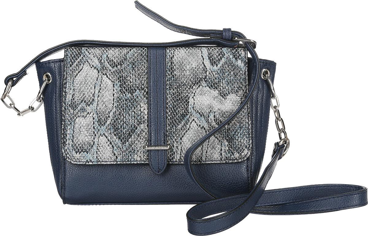 Сумка кросс-боди женская Jane Shilton, цвет: темно-синий, серый. 20592059navyСтильная женская сумка кросс-боди Jane Shilton выполнена из искусственной кожи. Изделие имеет одно отделение, закрывающееся на застежку-молнию. Внутри находится прорезной карман на застежке-молнии. Снаружи, на задней стенке и на передней стенке под клапаном с магнитной кнопкой расположены накладные карманы. Клапан оформлен принтом под змею. Модель оснащена регулируемым плечевым ремнем. Роскошная сумка кросс-боди внесет элегантные нотки в ваш образ и подчеркнет ваше отменное чувство стиля.