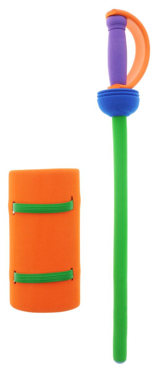 Safsof Рыцарский меч цвет зеленый оранжевыйKJ-01(B)_зеленый, оранжевыйРыцарский меч Safsof прекрасно подойдет для активных игр или может стать дополнением к маскарадному костюму. Меч изготовлен из вспененной резины, что не позволит детям поранить друг друга. В набор входит меч и защита на руку. Каждый мальчик хотя бы раз мечтал стать благородным рыцарем и борцом за справедливость. С такой игрушкой это возможно. Фантазия ребенка перенесет его в мир средневековья. Можно организовать посвящение в рыцари, устроить настоящий рыцарский турнир или сразиться за сердце прекрасной дамы, а может уничтожить невиданное чудовище и спасти целый город! Игрушка создана для поддержания спортивного интереса у детей, развития физических навыков и командного духа. Порадуйте своего ребенка таким необычным подарком!