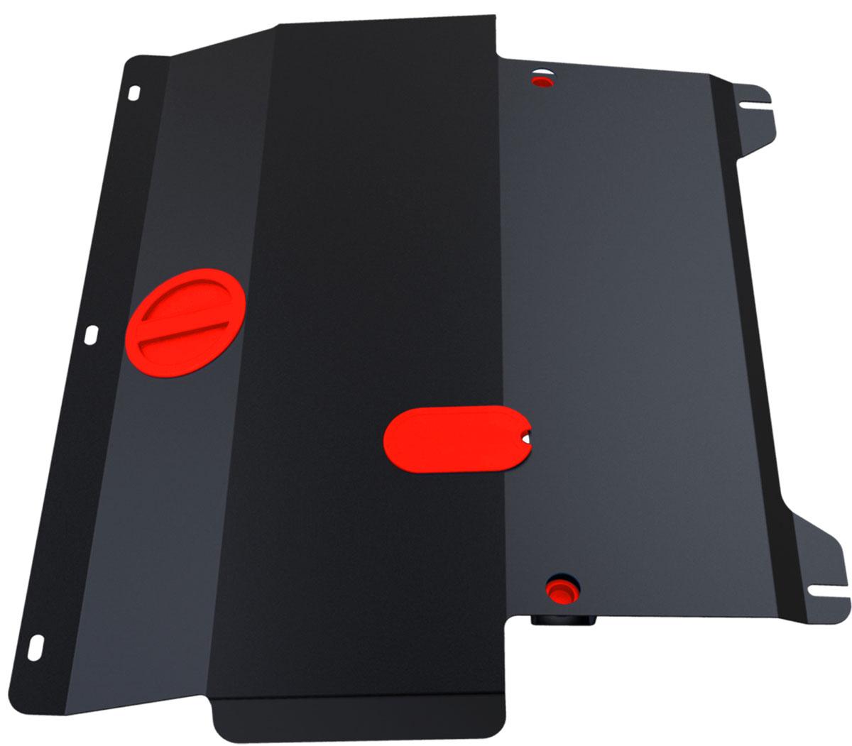Защита картера и КПП Автоброня, для Ford Fiesta. 111.01805.2111.01805.2Технологически совершенный продукт за невысокую стоимость. Защита разработана с учетом особенностей днища автомобиля, что позволяет сохранить дорожный просвет с минимальным изменением. Защита устанавливается в штатные места кузова автомобиля. Глубокий штамп обеспечивает до двух раз больше жесткости в сравнении с обычной защитой той же толщины. Проштампованные ребра жесткости препятствуют деформации защиты при ударах. Тепловой зазор и вентиляционные отверстия обеспечивают сохранение температурного режима двигателя в норме. Скрытый крепеж предотвращает срыв крепежных элементов при наезде на препятствие. Шумопоглощающие резиновые элементы обеспечивают комфортную езду без вибраций и скрежета металла, а съемные лючки для слива масла и замены фильтра - экономию средств и времени. Конструкция изделия не влияет на пассивную безопасность автомобиля (при ударе защита не воздействует на деформационные зоны кузова). Толщина стали: 2 мм. В комплекте набор...