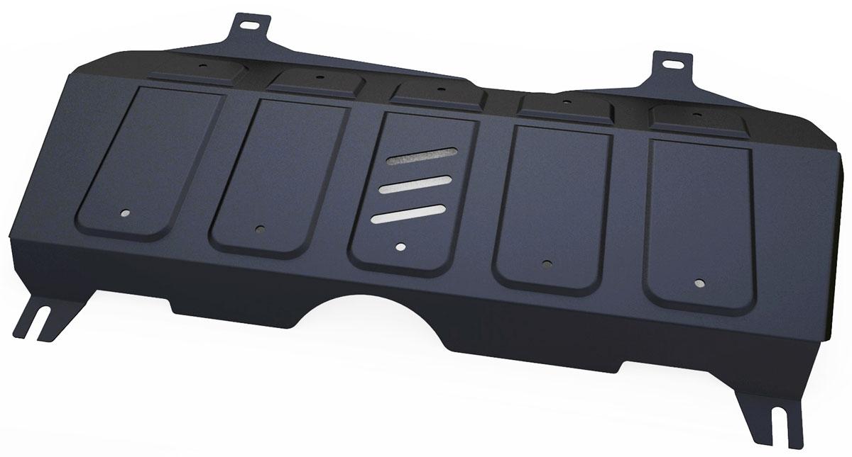 Защита картера и КПП Автоброня, для Geely Emgrand X7. 111.01913.1111.01913.1Технологически совершенный продукт за невысокую стоимость. Защита разработана с учетом особенностей днища автомобиля, что позволяет сохранить дорожный просвет с минимальным изменением. Защита устанавливается в штатные места кузова автомобиля. Глубокий штамп обеспечивает до двух раз больше жесткости в сравнении с обычной защитой той же толщины. Проштампованные ребра жесткости препятствуют деформации защиты при ударах. Тепловой зазор и вентиляционные отверстия обеспечивают сохранение температурного режима двигателя в норме. Скрытый крепеж предотвращает срыв крепежных элементов при наезде на препятствие. Шумопоглощающие резиновые элементы обеспечивают комфортную езду без вибраций и скрежета металла, а съемные лючки для слива масла и замены фильтра - экономию средств и времени. Конструкция изделия не влияет на пассивную безопасность автомобиля (при ударе защита не воздействует на деформационные зоны кузова). Толщина стали: 2 мм. В комплекте набор...