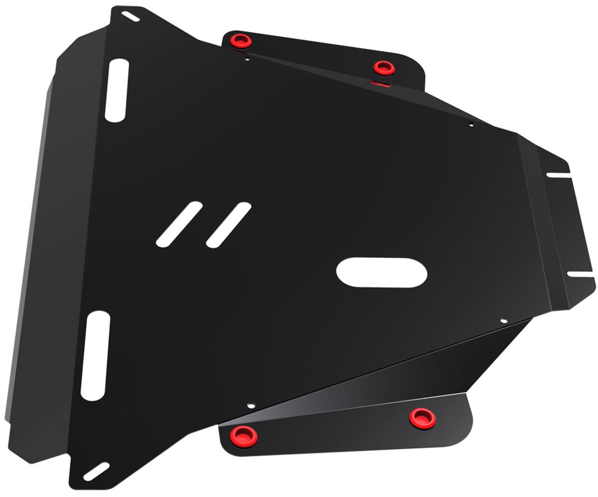 Защита картера и КПП Автоброня, для Honda CR-V III. 111.02104.2111.02104.2Технологически совершенный продукт за невысокую стоимость. Защита разработана с учетом особенностей днища автомобиля, что позволяет сохранить дорожный просвет с минимальным изменением. Защита устанавливается в штатные места кузова автомобиля. Глубокий штамп обеспечивает до двух раз больше жесткости в сравнении с обычной защитой той же толщины. Проштампованные ребра жесткости препятствуют деформации защиты при ударах. Тепловой зазор и вентиляционные отверстия обеспечивают сохранение температурного режима двигателя в норме. Скрытый крепеж предотвращает срыв крепежных элементов при наезде на препятствие. Шумопоглощающие резиновые элементы обеспечивают комфортную езду без вибраций и скрежета металла, а съемные лючки для слива масла и замены фильтра - экономию средств и времени. Конструкция изделия не влияет на пассивную безопасность автомобиля (при ударе защита не воздействует на деформационные зоны кузова).