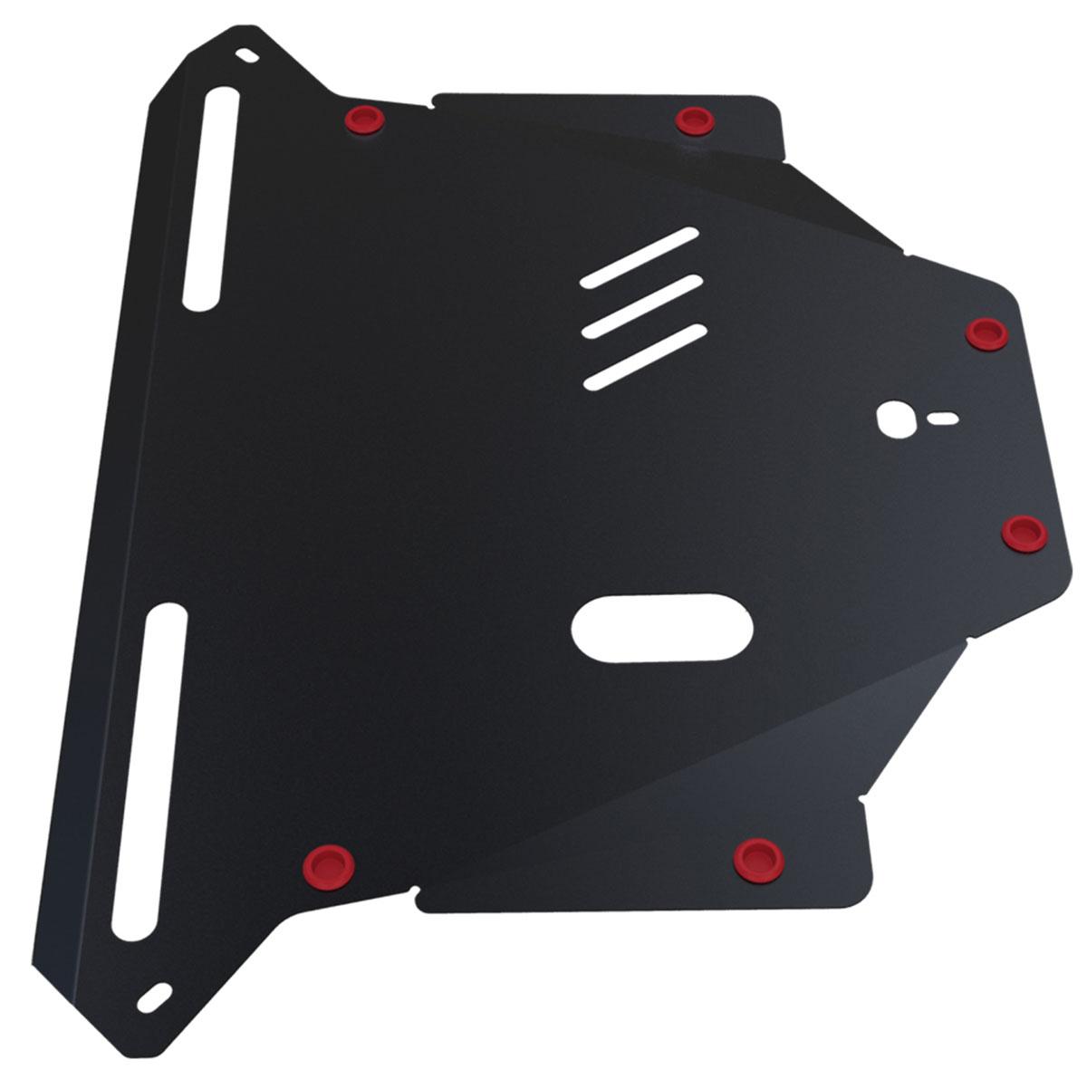 Защита картера и КПП Автоброня, для Honda CR-V II. 111.02110.1111.02110.1Технологически совершенный продукт за невысокую стоимость. Защита разработана с учетом особенностей днища автомобиля, что позволяет сохранить дорожный просвет с минимальным изменением. Защита устанавливается в штатные места кузова автомобиля. Глубокий штамп обеспечивает до двух раз больше жесткости в сравнении с обычной защитой той же толщины. Проштампованные ребра жесткости препятствуют деформации защиты при ударах. Тепловой зазор и вентиляционные отверстия обеспечивают сохранение температурного режима двигателя в норме. Скрытый крепеж предотвращает срыв крепежных элементов при наезде на препятствие. Шумопоглощающие резиновые элементы обеспечивают комфортную езду без вибраций и скрежета металла, а съемные лючки для слива масла и замены фильтра - экономию средств и времени. Конструкция изделия не влияет на пассивную безопасность автомобиля (при ударе защита не воздействует на деформационные зоны кузова). Толщина стали: 2 мм. В комплекте набор...