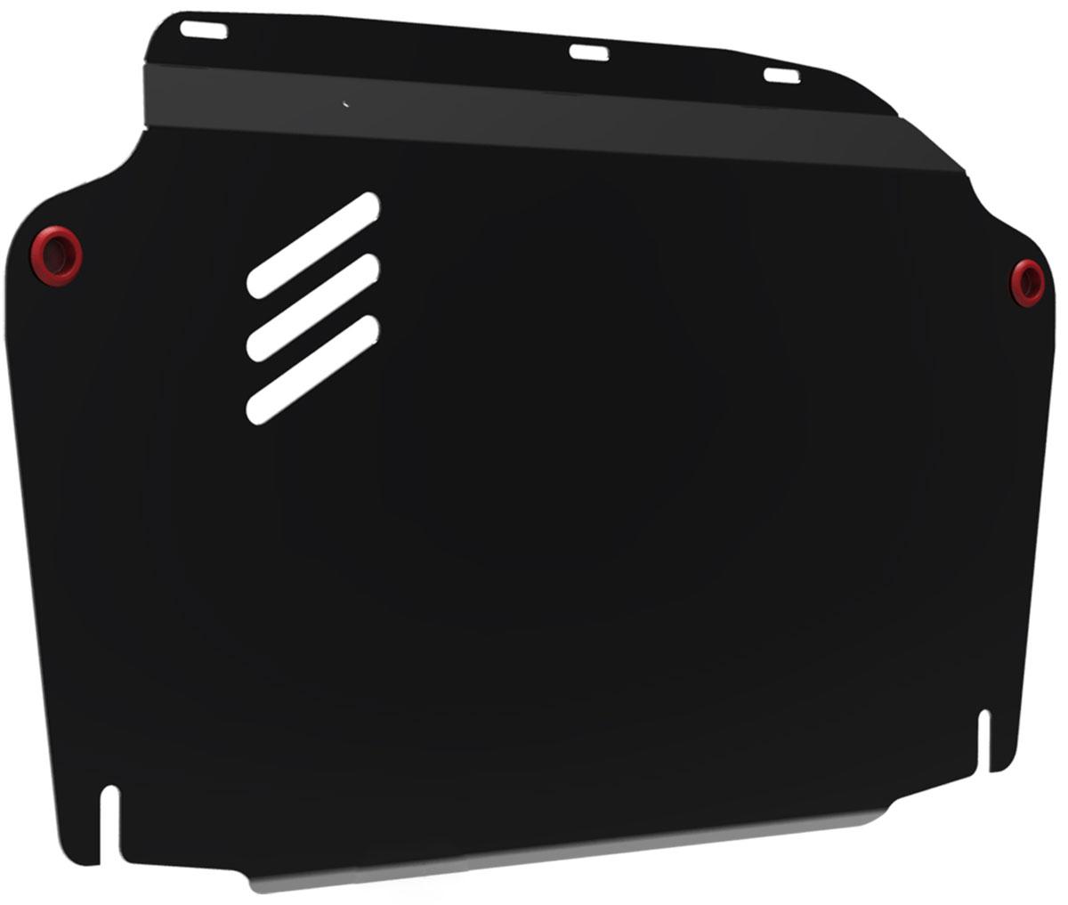 Защита картера и КПП Автоброня, для Hyundai Elantra/i30/Kia Ceed/Cerato. 111.02302.2111.02302.2Технологически совершенный продукт за невысокую стоимость. Защита разработана с учетом особенностей днища автомобиля, что позволяет сохранить дорожный просвет с минимальным изменением. Защита устанавливается в штатные места кузова автомобиля. Глубокий штамп обеспечивает до двух раз больше жесткости в сравнении с обычной защитой той же толщины. Проштампованные ребра жесткости препятствуют деформации защиты при ударах. Тепловой зазор и вентиляционные отверстия обеспечивают сохранение температурного режима двигателя в норме. Скрытый крепеж предотвращает срыв крепежных элементов при наезде на препятствие. Шумопоглощающие резиновые элементы обеспечивают комфортную езду без вибраций и скрежета металла, а съемные лючки для слива масла и замены фильтра - экономию средств и времени. Конструкция изделия не влияет на пассивную безопасность автомобиля (при ударе защита не воздействует на деформационные зоны кузова). Толщина стали: 2 мм. В комплекте набор...