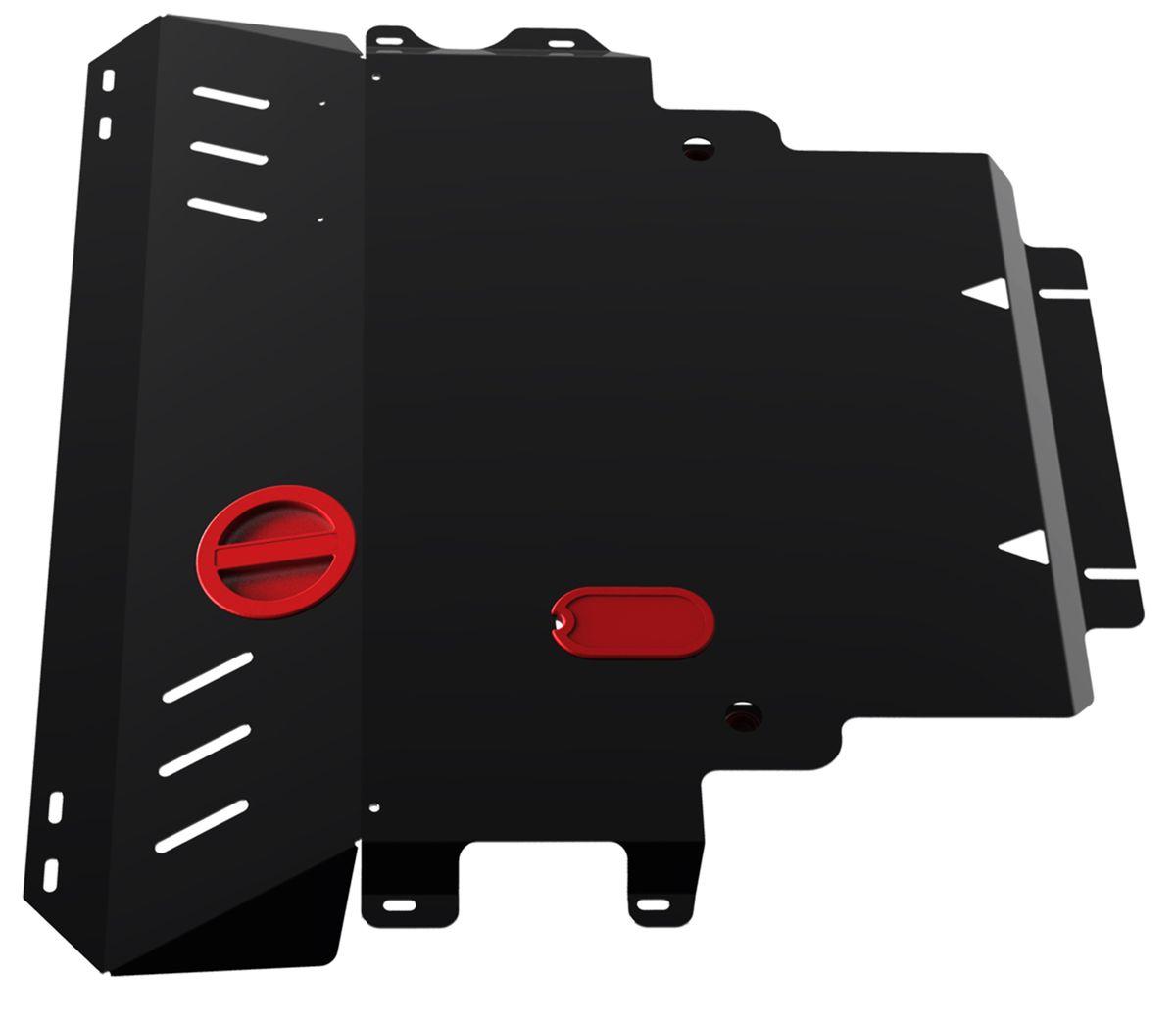 Защита картера и КПП Автоброня, для Mazda 3/5/Premacy. 111.03802.2111.03802.2Технологически совершенный продукт за невысокую стоимость. Защита разработана с учетом особенностей днища автомобиля, что позволяет сохранить дорожный просвет с минимальным изменением. Защита устанавливается в штатные места кузова автомобиля. Глубокий штамп обеспечивает до двух раз больше жесткости в сравнении с обычной защитой той же толщины. Проштампованные ребра жесткости препятствуют деформации защиты при ударах. Тепловой зазор и вентиляционные отверстия обеспечивают сохранение температурного режима двигателя в норме. Скрытый крепеж предотвращает срыв крепежных элементов при наезде на препятствие. Шумопоглощающие резиновые элементы обеспечивают комфортную езду без вибраций и скрежета металла, а съемные лючки для слива масла и замены фильтра - экономию средств и время. Конструкция изделия не влияет на пассивную безопасность автомобиля (при ударе защита не воздействует на деформационные зоны кузова). Со штатным крепежом. В комплекте инструкция по...