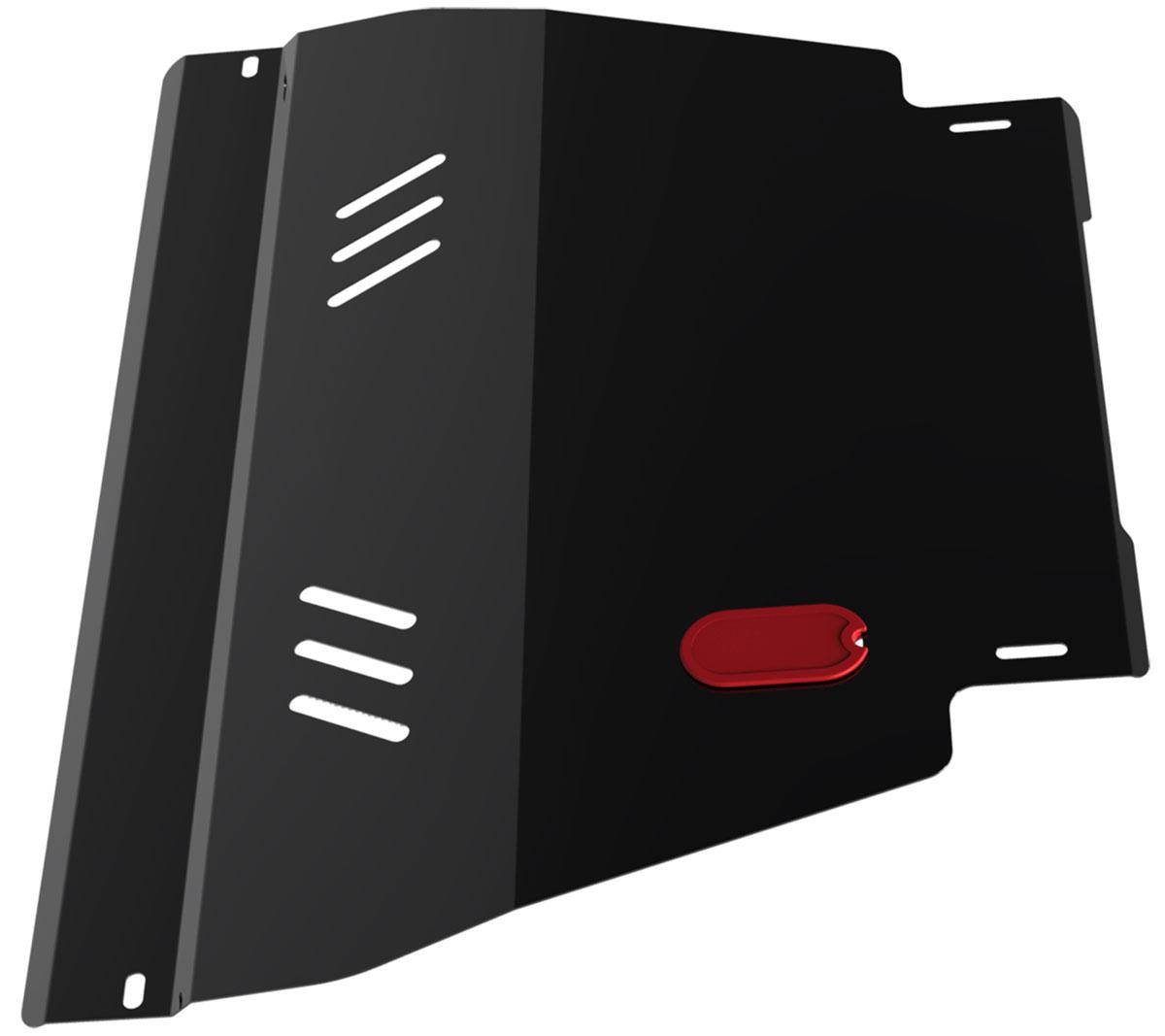 Защита картера и КПП Автоброня, для Nissan Ad Van/Almera N15/Primera P11/Sunny B14/Wingroad. 111.04129.1111.04129.1Технологически совершенный продукт за невысокую стоимость. Защита разработана с учетом особенностей днища автомобиля, что позволяет сохранить дорожный просвет с минимальным изменением. Защита устанавливается в штатные места кузова автомобиля. Глубокий штамп обеспечивает до двух раз больше жесткости в сравнении с обычной защитой той же толщины. Проштампованные ребра жесткости препятствуют деформации защиты при ударах. Тепловой зазор и вентиляционные отверстия обеспечивают сохранение температурного режима двигателя в норме. Скрытый крепеж предотвращает срыв крепежных элементов при наезде на препятствие. Шумопоглощающие резиновые элементы обеспечивают комфортную езду без вибраций и скрежета металла, а съемные лючки для слива масла и замены фильтра - экономию средств и времени. Конструкция изделия не влияет на пассивную безопасность автомобиля (при ударе защита не воздействует на деформационные зоны кузова). Толщина стали: 2 мм. В комплекте набор...