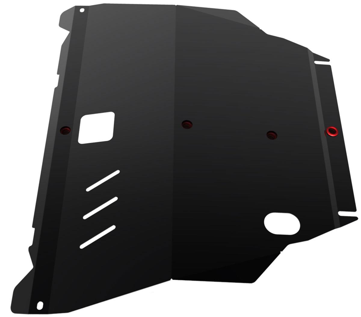 Защита картера и КПП Автоброня, для Nissan X-Trail. 111.04138.1111.04138.1Технологически совершенный продукт за невысокую стоимость. Защита разработана с учетом особенностей днища автомобиля, что позволяет сохранить дорожный просвет с минимальным изменением. Защита устанавливается в штатные места кузова автомобиля. Глубокий штамп обеспечивает до двух раз больше жесткости в сравнении с обычной защитой той же толщины. Проштампованные ребра жесткости препятствуют деформации защиты при ударах. Тепловой зазор и вентиляционные отверстия обеспечивают сохранение температурного режима двигателя в норме. Скрытый крепеж предотвращает срыв крепежных элементов при наезде на препятствие. Шумопоглощающие резиновые элементы обеспечивают комфортную езду без вибраций и скрежета металла, а съемные лючки для слива масла и замены фильтра - экономию средств и время. Конструкция изделия не влияет на пассивную безопасность автомобиля (при ударе защита не воздействует на деформационные зоны кузова). Со штатным крепежом. В комплекте инструкция по...