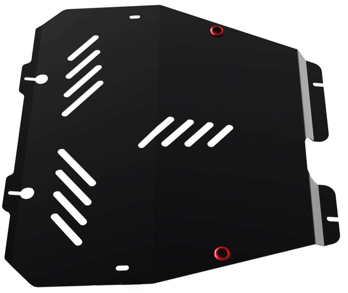 Защита картера и КПП Автоброня, для Opel Astra H/Zafira. 111.04201.2111.04201.2Технологически совершенный продукт за невысокую стоимость. Защита разработана с учетом особенностей днища автомобиля, что позволяет сохранить дорожный просвет с минимальным изменением. Защита устанавливается в штатные места кузова автомобиля. Глубокий штамп обеспечивает до двух раз больше жесткости в сравнении с обычной защитой той же толщины. Проштампованные ребра жесткости препятствуют деформации защиты при ударах. Тепловой зазор и вентиляционные отверстия обеспечивают сохранение температурного режима двигателя в норме. Скрытый крепеж предотвращает срыв крепежных элементов при наезде на препятствие. Шумопоглощающие резиновые элементы обеспечивают комфортную езду без вибраций и скрежета металла, а съемные лючки для слива масла и замены фильтра - экономию средств и время. Конструкция изделия не влияет на пассивную безопасность автомобиля (при ударе защита не воздействует на деформационные зоны кузова). Со штатным крепежом. В комплекте инструкция по...