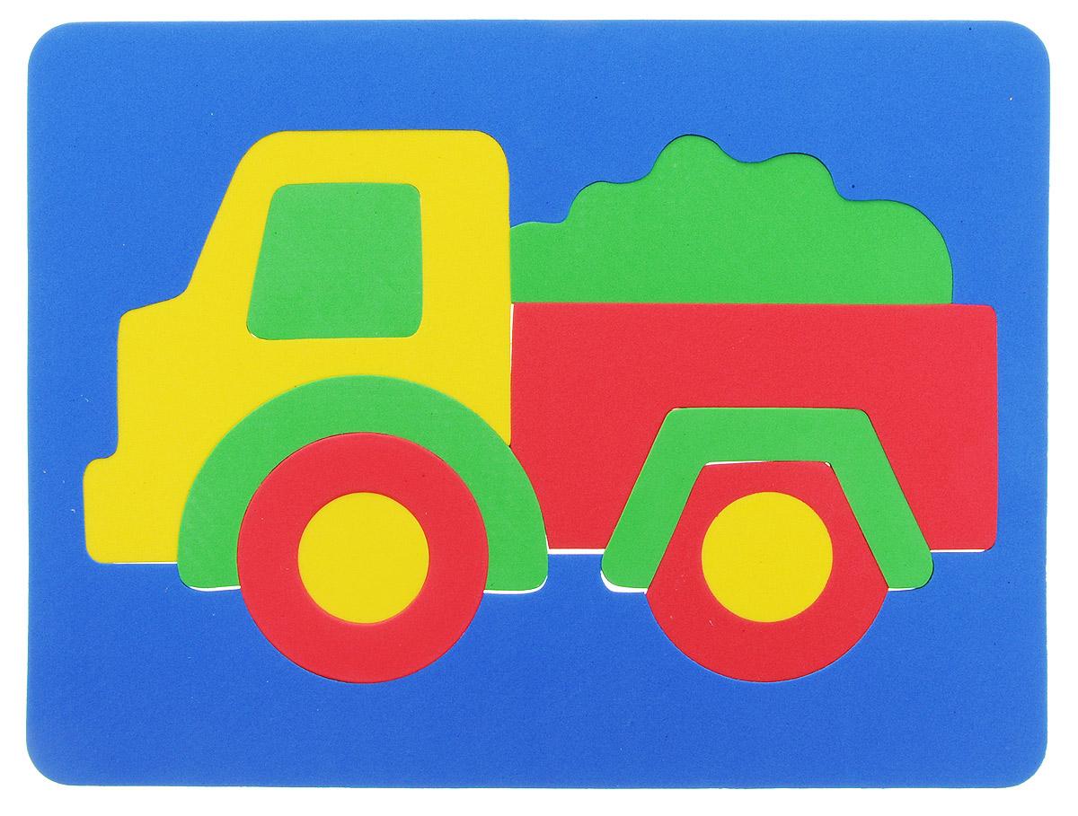 Фантазер Пазл для малышей Грузовичок цвет основы синий063551Г_синийПазл для малышей Фантазер Грузовичок выполнен из мягкого полимера, который дает юному конструктору новые удивительные возможности в игре: детали пазла гнутся, но не ломаются, их всегда можно состыковать. Пазл представляет собой основу, в которой собирается яркий грузовик. Ваш малыш сможет собрать пазл и в ванной. Элементы можно намочить, благодаря чему они будут хорошо прилипать к стене в ванной комнате. Такой пазл развивает пространственное и логическое мышления, память и глазомер, знакомит с формами и цветом предмета в процессе игры.