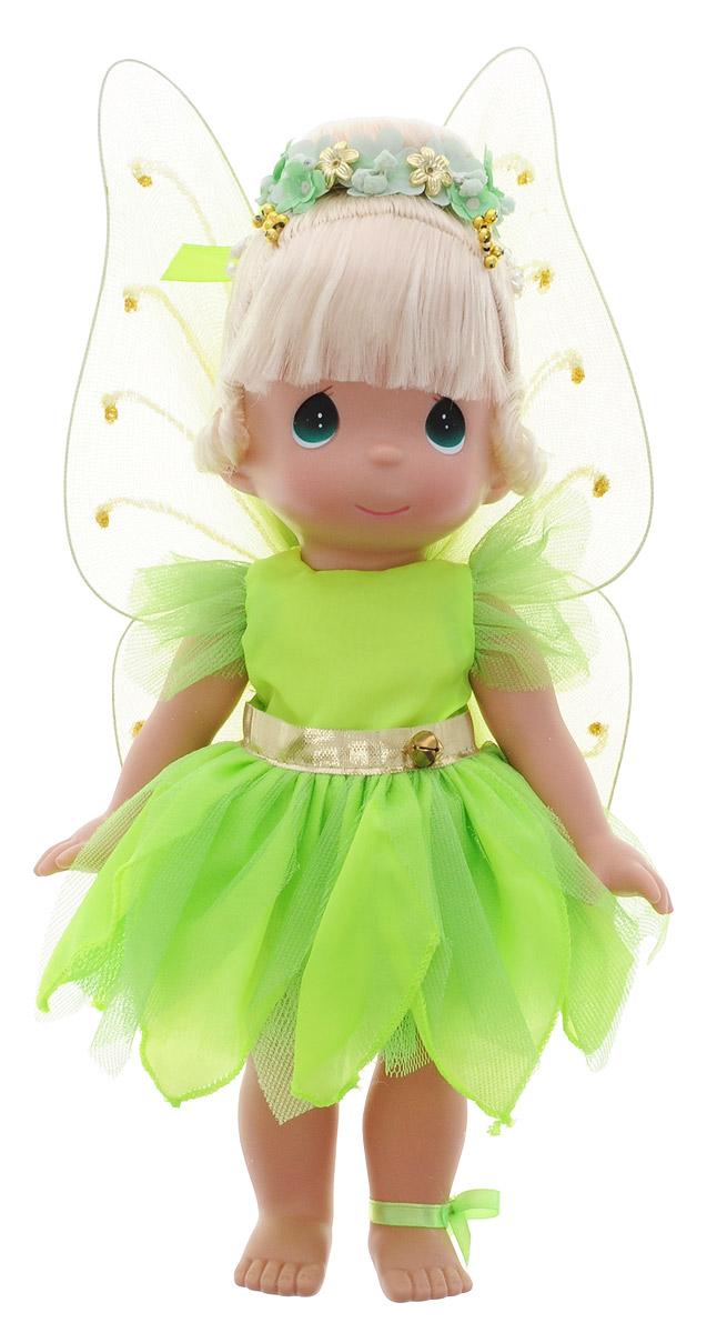 Precious Moments Кукла Фея Динь-Динь8384Коллекция кукол Precious Moments ростом выше 30 см насчитывает на сегодняшний день более 600 видов. Куклы изготавливаются из качественного, безопасного материала и имеют пять базовых точек артикуляции. Каждый год в коллекцию добавляются все новые и новые модели. Каждая кукла имеет свой неповторимый образ и характер. Она может быть подарком на память о каком- либо событии в жизни. Куклы выполнены с любовью и нежностью, которую дарит нам известная волшебница - создатель кукол Линда Рик! Кукла Фея Динь- Динь очарует вас и вашу дочурку с первого взгляда! На куколке восхитительное съемное платье салатового цвета, за спиной у нее - большие полупрозрачные крылья, которые с легкостью можно отстегнуть. У феи шикарные светлые волосы, которые забраны вверх и украшены цветочным венком. На милом личике большие зеленые глаза. Игра с куклой разовьет в вашей малышке чувство ответственности и заботы. Порадуйте свою принцессу таким великолепным подарком!