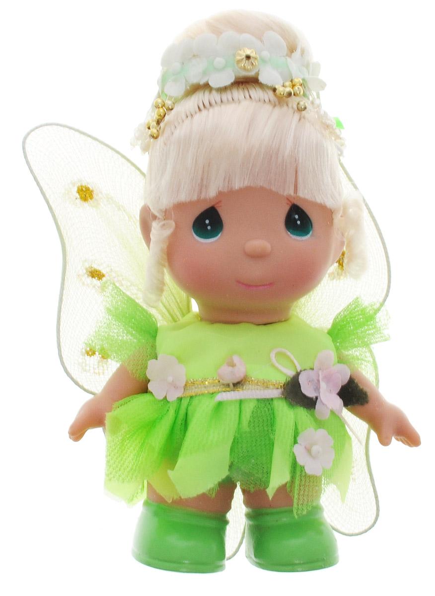 Precious Moments Мини-кукла Фея цвет наряда салатовый5265Какие же милые эти куколки Precious Moments. Создатель этих очаровательных крошек настоящая волшебница - Линда Рик - оживила свои творения, каждая кукла обрела свой милый и неповторимый образ. Эти крошки могут сопровождать вас в чудесных странствиях и сделать каждый момент вашей жизни незабываемым! Очаровательная мини-кукла Фея одета в салатовое платье. На спине у куклы крылышки, которые с легкостью можно отстегнуть. Светлые волосы куклы убраны в прическу, украшенную цветами. У девочки большие зеленые глаза. Благодаря играм с куклой, ваша малышка сможет развить фантазию и любознательность, овладеть навыками общения и научиться ответственности. Мини-кукла Precious Moments Фея станет отличным подарком для любой девочки на день рождения или другой праздник.