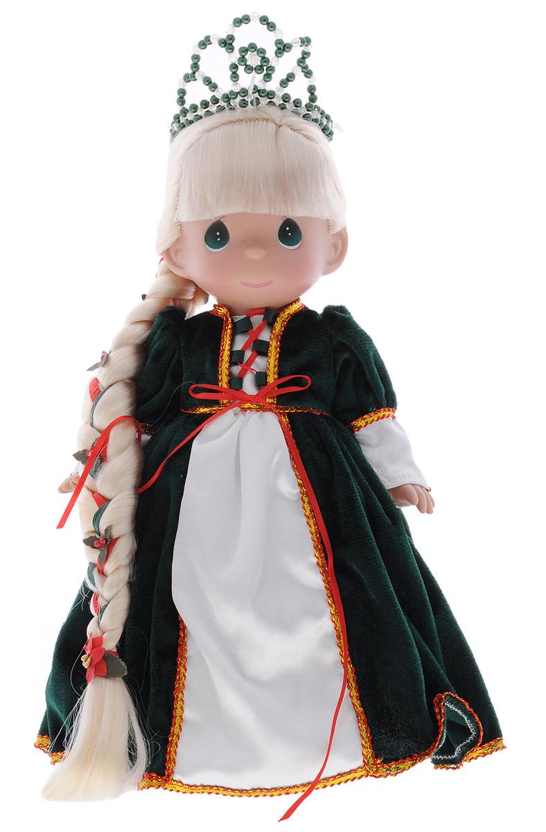 Precious Moments Кукла Рапунцель цвет платья зеленый8387Коллекция кукол Precious Moments ростом выше 30 см насчитывает на сегодняшний день более 600 видов. Куклы изготавливаются из качественного, безопасного материала и имеют пять базовых точек артикуляции. Каждый год в коллекцию добавляются все новые и новые модели. Каждая кукла имеет свой неповторимый образ и характер. Она может быть подарком на память о каком-либо событии в жизни. Куклы выполнены с любовью и нежностью, которую дарит нам известная волшебница - создатель кукол Линда Рик! Кукла Рапунцель одета в роскошное платье зеленого цвета. На ногах у куклы - зеленые туфельки. Волосы Рапунцель светлого цвета, заплетены в длинную косу. Образ дополняет диадема в цвет платья. Вся одежда съемная. У куклы большие глаза зеленого цвета. Игра с куклой разовьет в вашей малышке чувство ответственности и заботы. Порадуйте свою принцессу таким великолепным подарком!