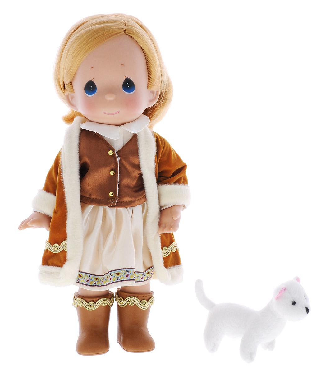 Precious Moments Кукла Герда8412Коллекция кукол Precious Moments ростом выше 30 см насчитывает на сегодняшний день более 600 видов. Куклы изготавливаются из качественного, безопасного материала и имеют пять базовых точек артикуляции. Каждый год в коллекцию добавляются все новые и новые модели. Каждая кукла имеет свой неповторимый образ и характер. Она может быть подарком на память о каком-либо событии в жизни. Куклы выполнены с любовью и нежностью, которую дарит нам известная волшебница - создатель кукол Линда Рик! Кукла Герда одета в теплую шубку, на ногах у нее - коричневые сапожки. Вся одежда у куклы съемная. У девочки русые волосы и большие глаза синего цвета. В руках кукла держит мягкую игрушку. Игра с куклой разовьет в вашей малышке чувство ответственности и заботы. Порадуйте свою принцессу таким великолепным подарком!