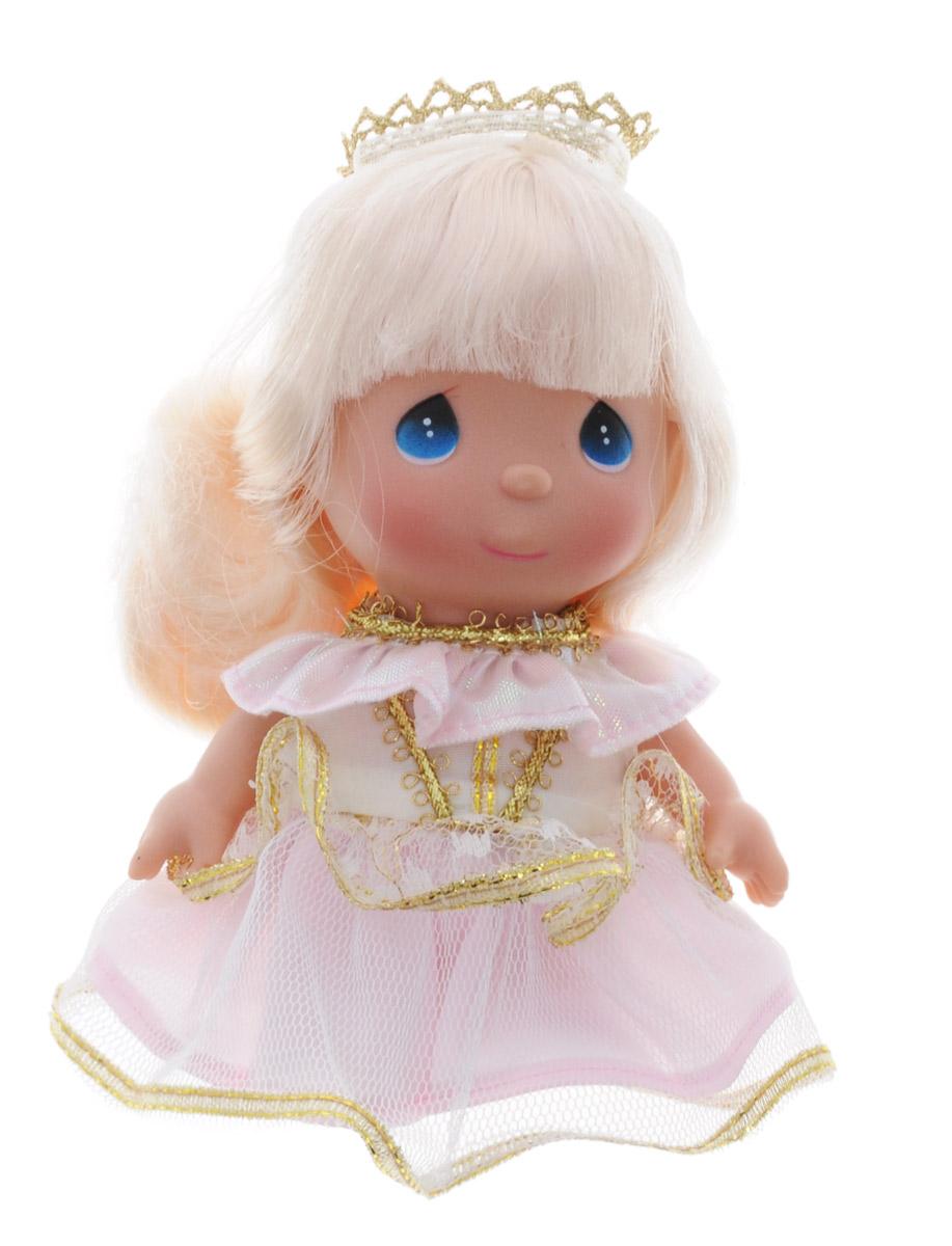 Precious Moments Мини-кукла Спящая красавица5281Какие же милые эти куколки Precious Moments. Создатель этих очаровательных крошек настоящая волшебница - Линда Рик - оживила свои творения, каждая кукла обрела свой милый и неповторимый образ. Эти крошки могут сопровождать вас в чудесных странствиях и сделать каждый момент вашей жизни незабываемым! Мини-кукла Спящая красавица одета в розовое платье. На голове красуется текстильная корона. У куколки длинные светлые волосы и большие синие глазки. Благодаря играм с куклой, ваша малышка сможет развить фантазию и любознательность, овладеть навыками общения и научиться ответственности. Мини-кукла Precious Moments Спящая красавица станет отличным подарком для любой девочки на день рождения или другой праздник.