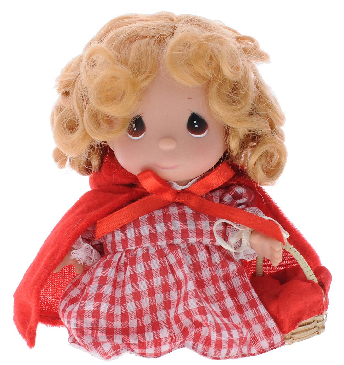 Precious Moments Мини-кукла Красная шапочка5396Какие же милые эти куколки Precious Moments. Создатель этих очаровательных крошек настоящая волшебница - Линда Рик - оживила свои творения, каждая кукла обрела свой милый и неповторимый образ. Эти крошки могут сопровождать вас в чудесных странствиях и сделать каждый момент вашей жизни незабываемым! Мини-кукла Красная шапочка одета в клетчатое платье. Поверх платья одета красная накидка с капюшоном. У куклы светлые волнистые волосы и большие карие глаза. В руке куколка держит корзинку. Благодаря играм с куклой, ваша малышка сможет развить фантазию и любознательность, овладеть навыками общения и научиться ответственности. Порадуйте свою принцессу таким прекрасным подарком!