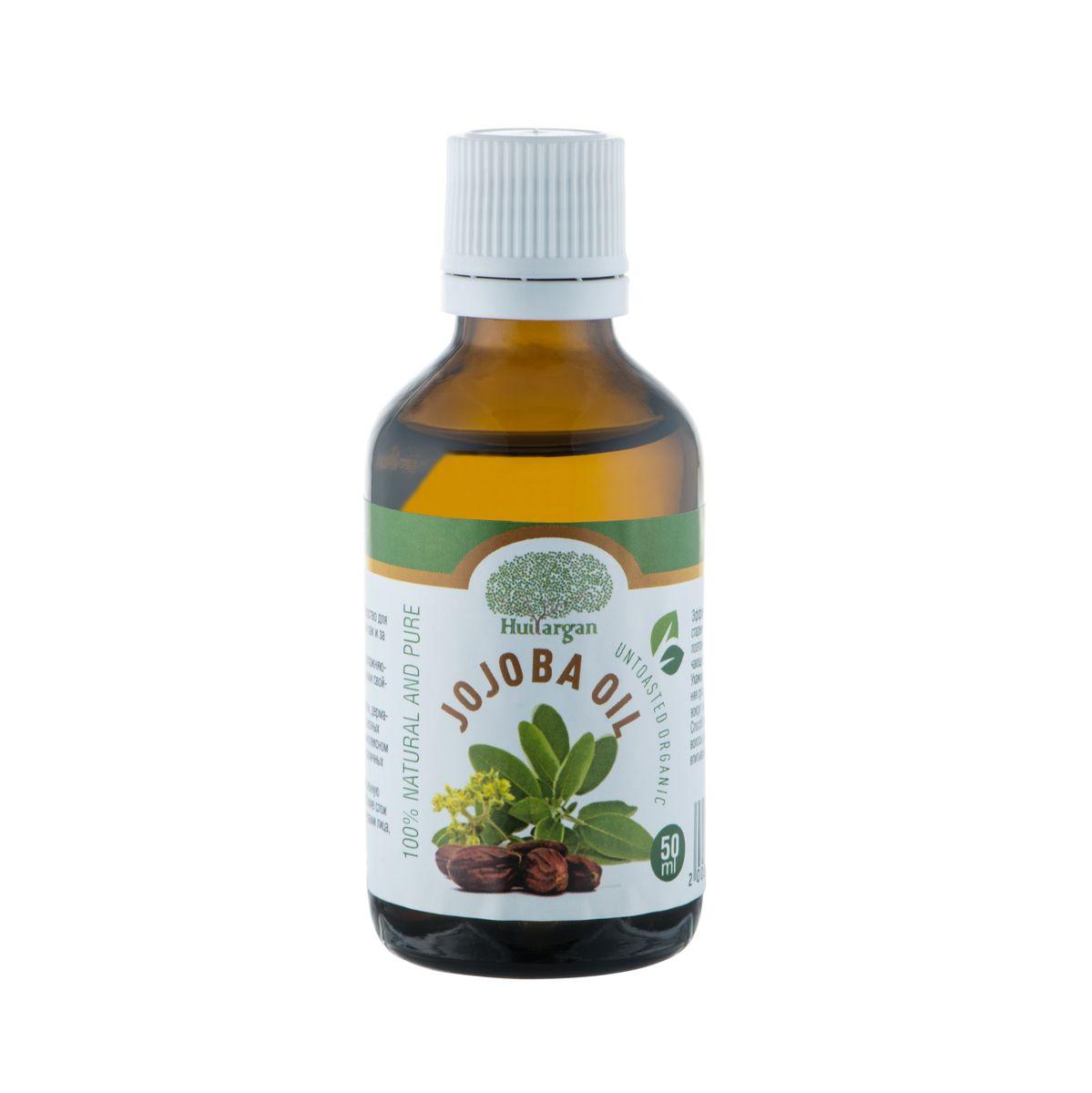 Huilargan Масло жожоба, 100% органическое, 50 мл2000000009032Масло жожоба (Jojoba oil) – 'то идеальное средство для ежедневного ухода за кожей всех типов, также как и за волосами любой структуры и типов. Оно обладает высокими регенерирующими, увлажняющими, противовоспалительными и смягчающими свойствами. Богато витамином Е. Отличная проникающая способность масла обеспечивает полное всасывание в кожу и волосы, поэтому оно не оставляет на лице и волосяных стволах жирного блеска. Масло жожоба применяется при лечении экзем, дерматитов, нейродермитов, псориаза и других серьезных кожных проблемах – в лечебных мазях. В комплексном лечении акне, фурункулов, угревой сыпи и различных воспалений и высыпаний на коже. Сухую, пересушенную, шелушащуюся и воспаленную кожу оно увлажняет и питает, проникая в глубокие слои кожи, идеально ухаживая за кожными структурами лица, шеи, груди и декольте. Эффективно разглаживает морщины при дряблой, стареющей коже. Прекрасное средство после бритья, поэтому его рекомендуется использовать как смягчающее...