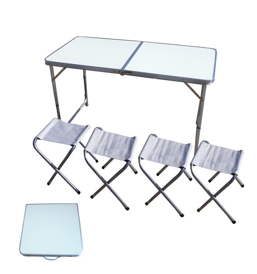 Набор мебели IRIT (стол + 4 табурета), цвет: белый. IRG-523