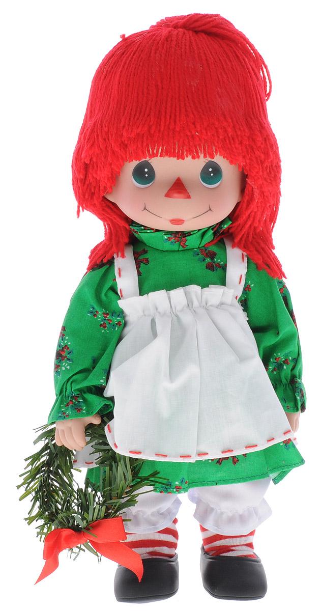 Precious Moments Кукла Прошедшие желания Девочка4721Коллекция кукол Precious Moments ростом выше 30 см насчитывает на сегодняшний день более 600 видов. Куклы изготавливаются из качественного, безопасного материала и имеют пять базовых точек артикуляции. Каждый год в коллекцию добавляются все новые и новые модели. Каждая кукла имеет свой неповторимый образ и характер. Она может быть подарком на память о каком-либо событии в жизни. Куклы выполнены с любовью и нежностью, которую дарит нам известная волшебница - создатель кукол Линда Рик! Кукла Прошедшие желания. Девочка одета в забавный костюм, полосатые гольфы, на ногах - черные ботиночки. Вся одежда у куклы съемная. Очаровательные волосы, сплетенные из красных нитей, дополняют прекрасный образ куклы. У девочки большие глаза зеленого цвета. В руке кукла держит венок. Игра с куклой разовьет в вашей малышке чувство ответственности и заботы. Порадуйте свою принцессу таким великолепным подарком!
