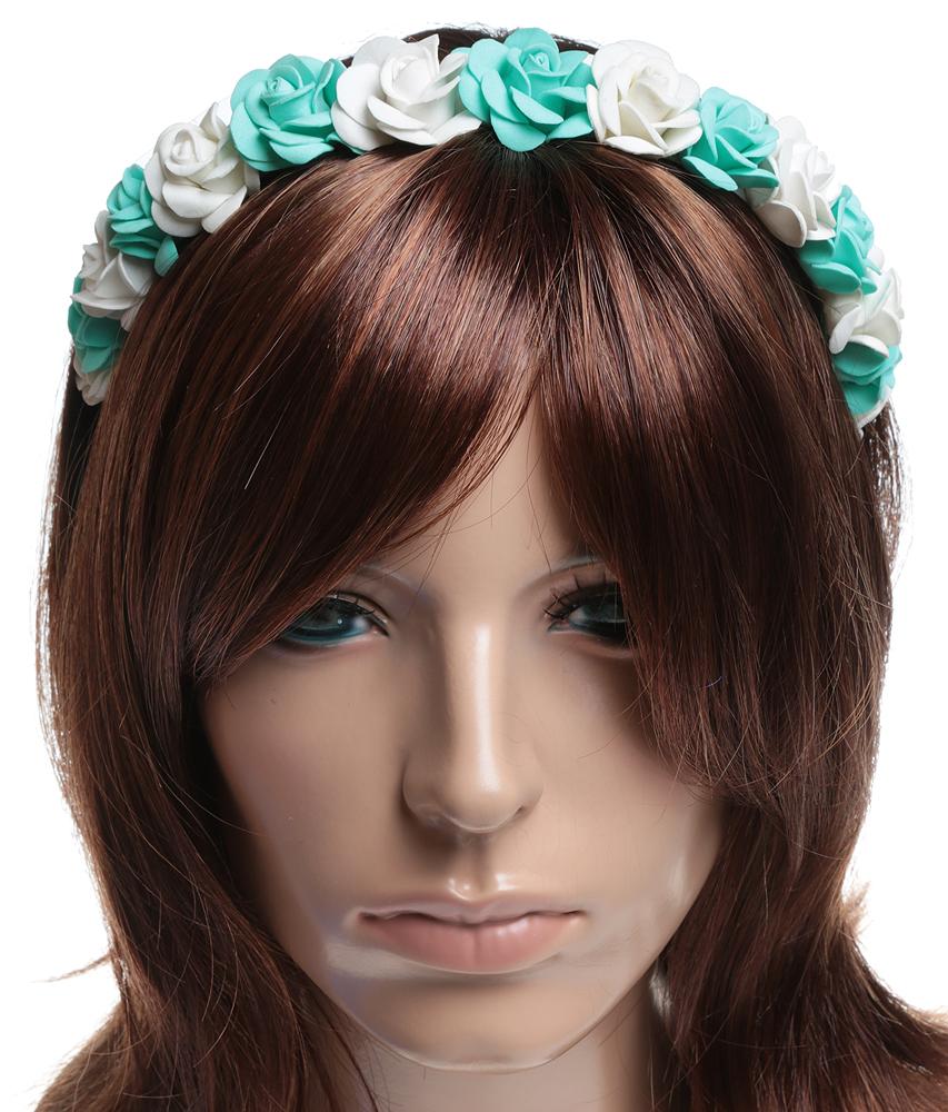 Ободок для волос 'Фея цветов'. Фоамиран, атласная лента, металл, ручная работа. Laura style, Россия